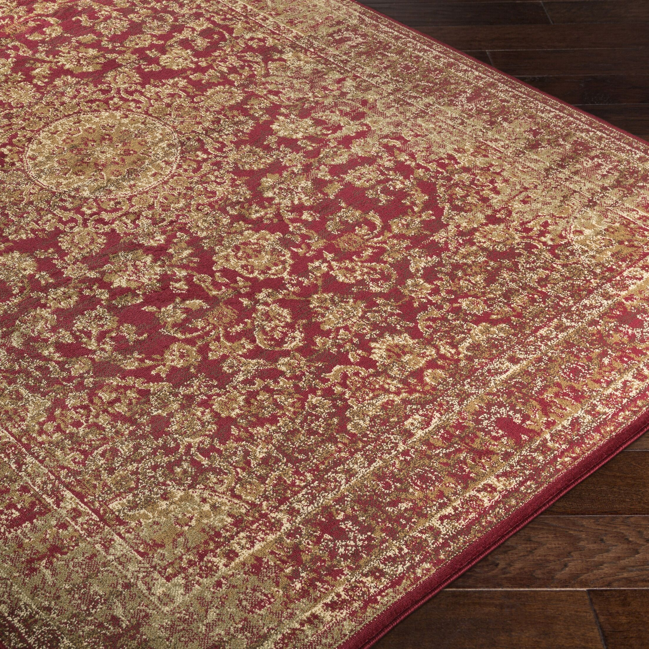 Netta Red/Brown Area Rug Rug Size: Rectangle 5' x 7'6