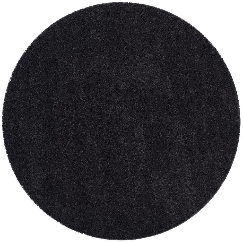 Raphael Black Area Rug Rug Size: Round 7' x 7'