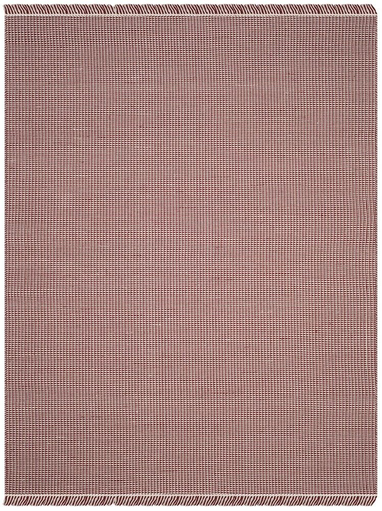 Parthena Hand-Woven Red Area Rug Rug Size: Round 6'