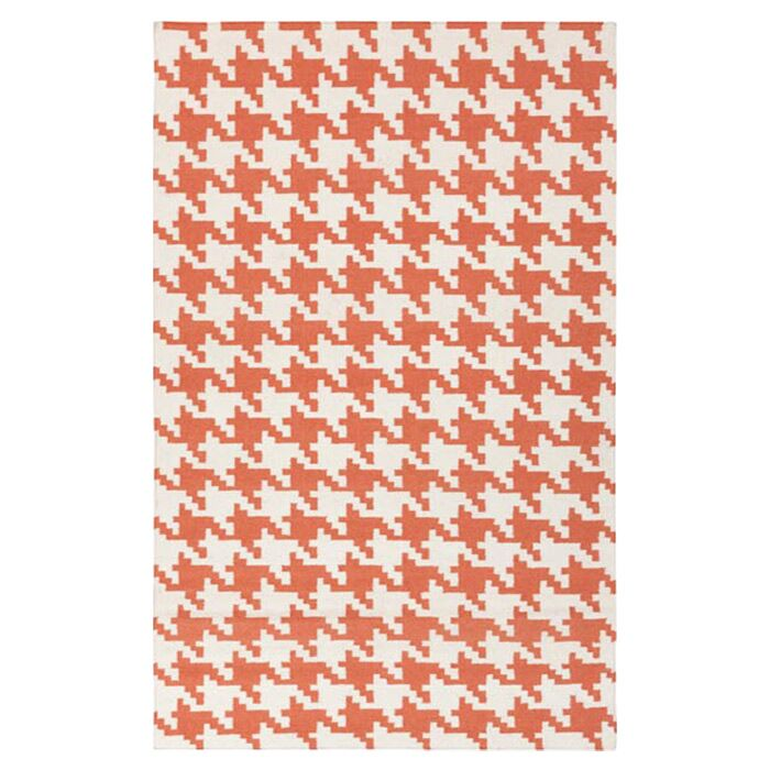 Atkins Rust/Ivory Area Rug Rug Size: Rectangle 3'6