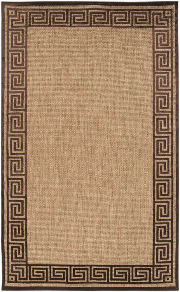 Carver Natural/Chocolate Outdoor Rug Rug Size: Rectangle 3'9
