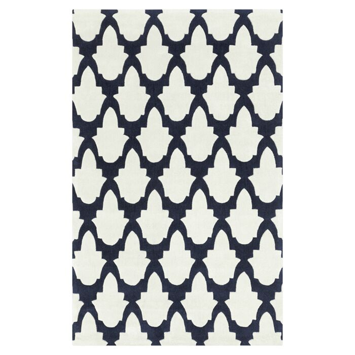 Windsor Bone/Midnight Blue Rug Rug Size: Rectangle 9' x 13'