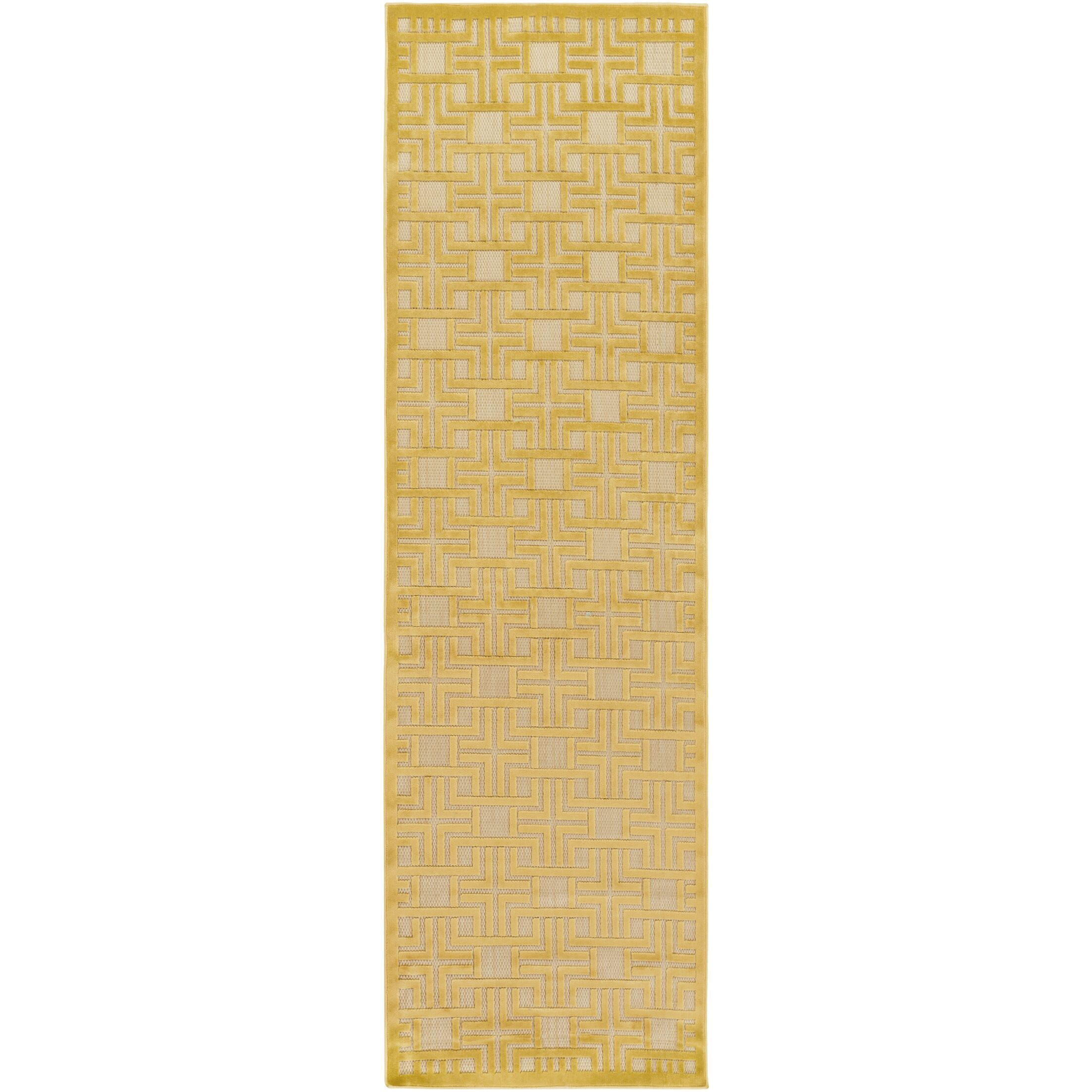 Carver Mustard/Khaki Indoor/Outdoor Area Rug Rug Size: Rectangle 7'10