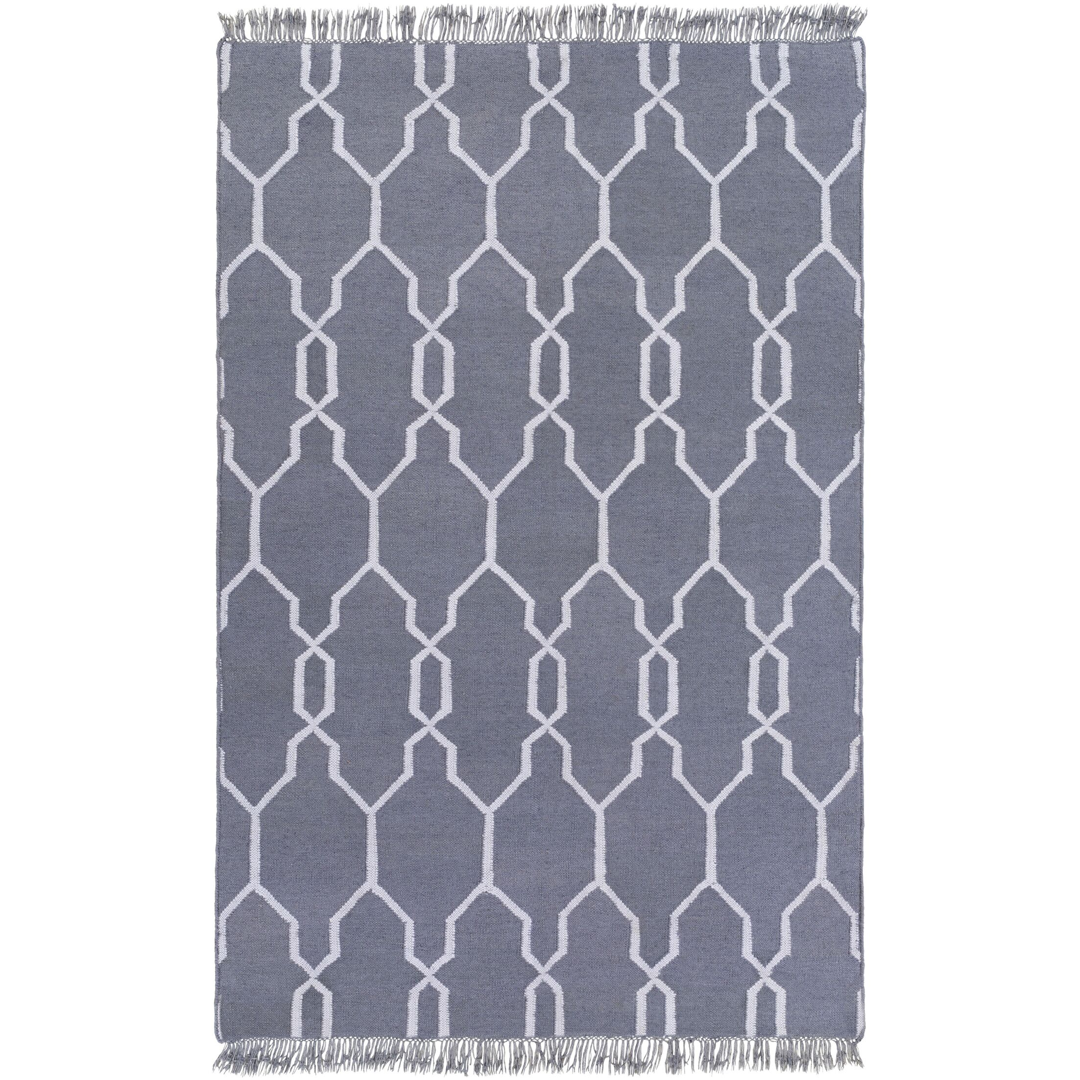 Larksville Hand-Woven Gray Outdoor Area Rug Rug Size: Rectangle 5' x 8'