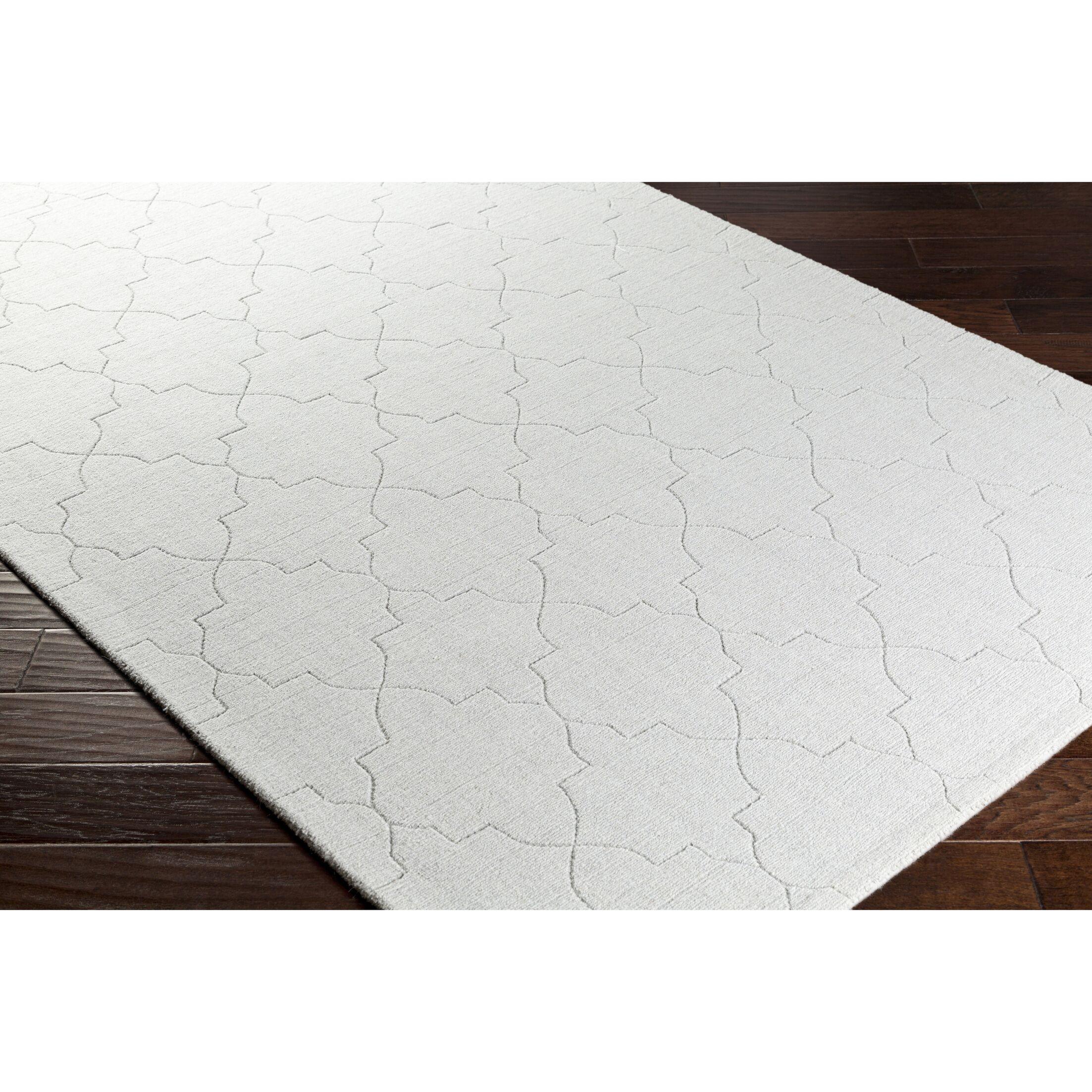 Swindell Hand-Loomed Gray Area Rug Rug Size: Rectangle 8' x 10'