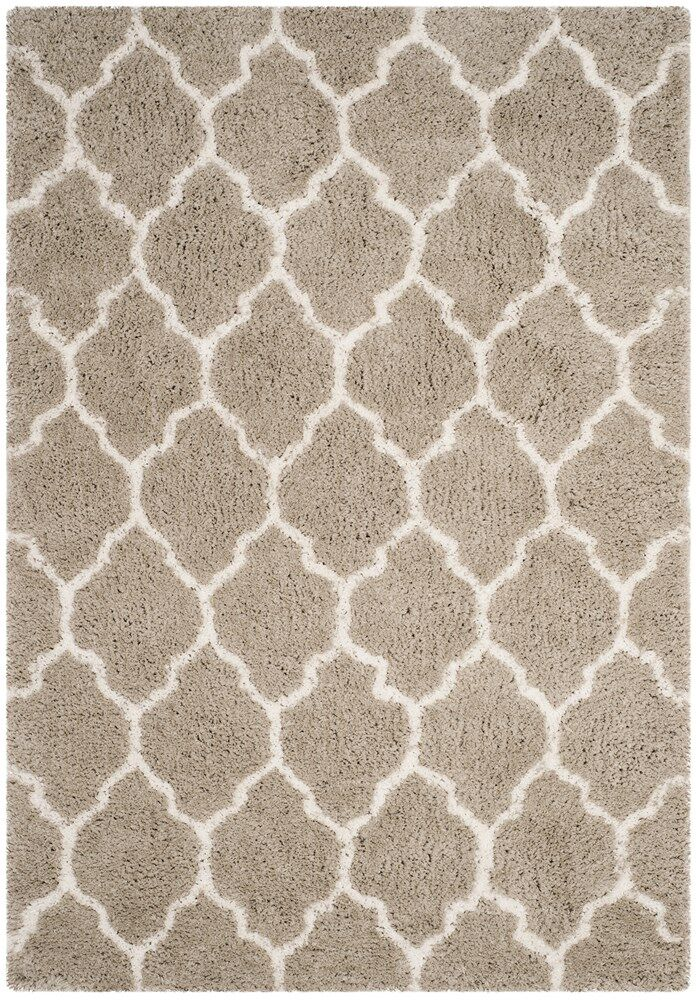 Parnassus Hand-Tufted Silver/Ivory Area Rug Rug Size: Square 5' x 5'