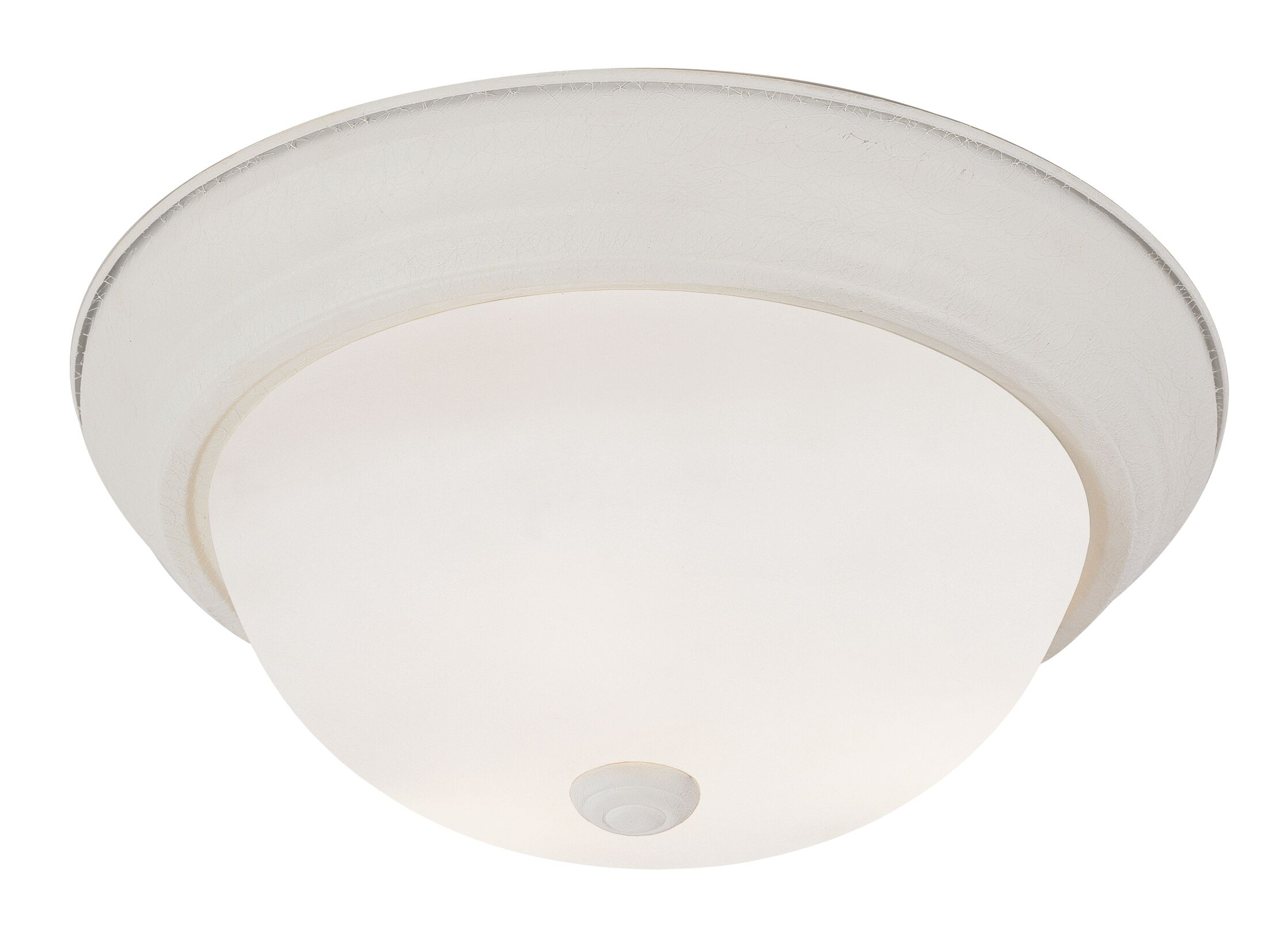 Elwin 1-Light LED Flush Mount Fixture Finish: Antique White, Size: 6