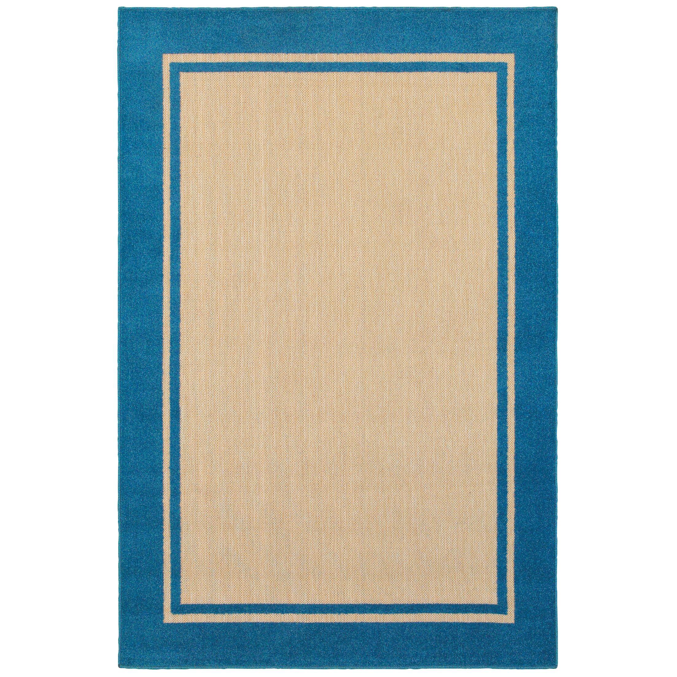 Binghamton Sand/Blue Outdoor Area Rug Rug Size: Rectangle 3'10