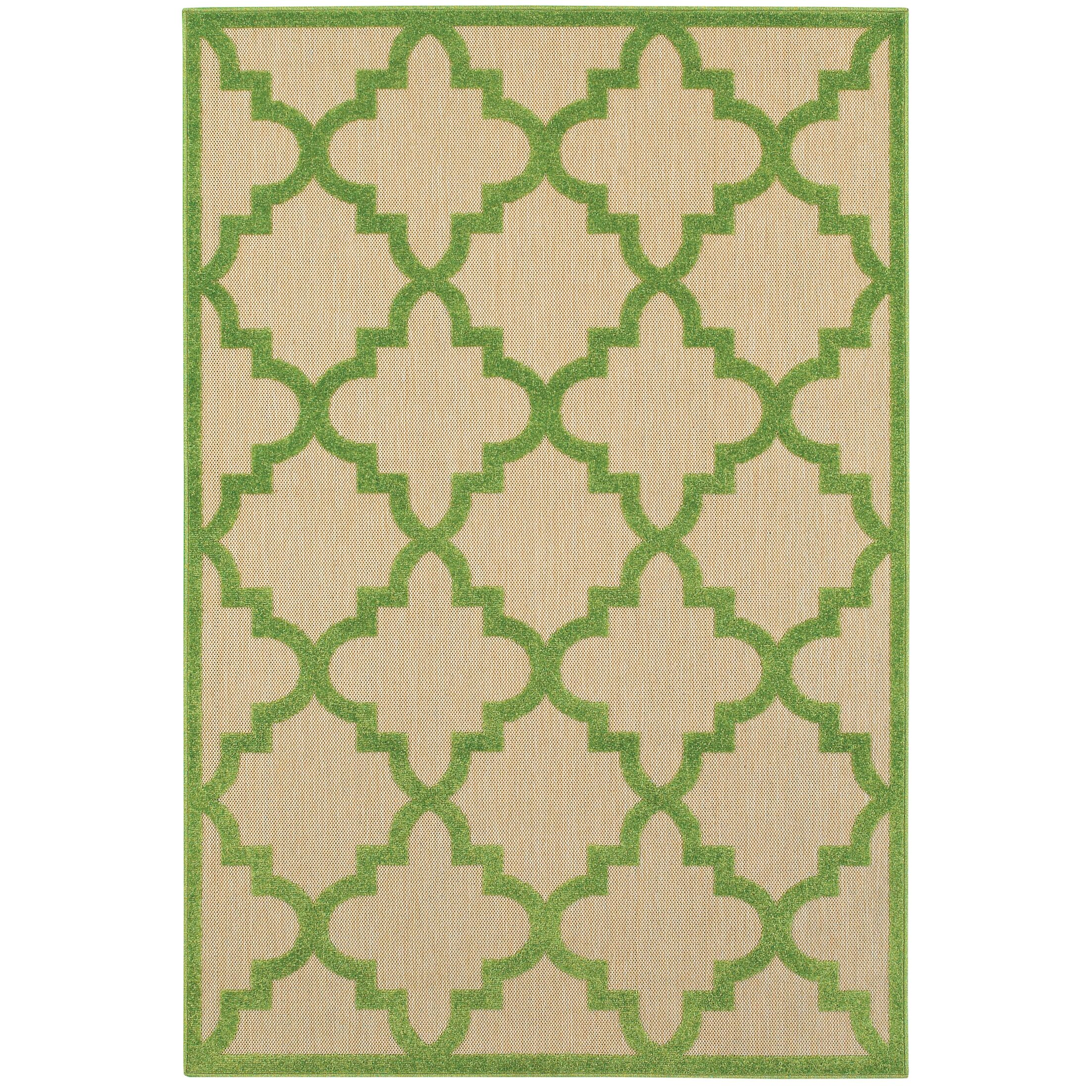 Winchcombe Sand/Green Outdoor Area Rug Rug Size: Rectangle 7'10