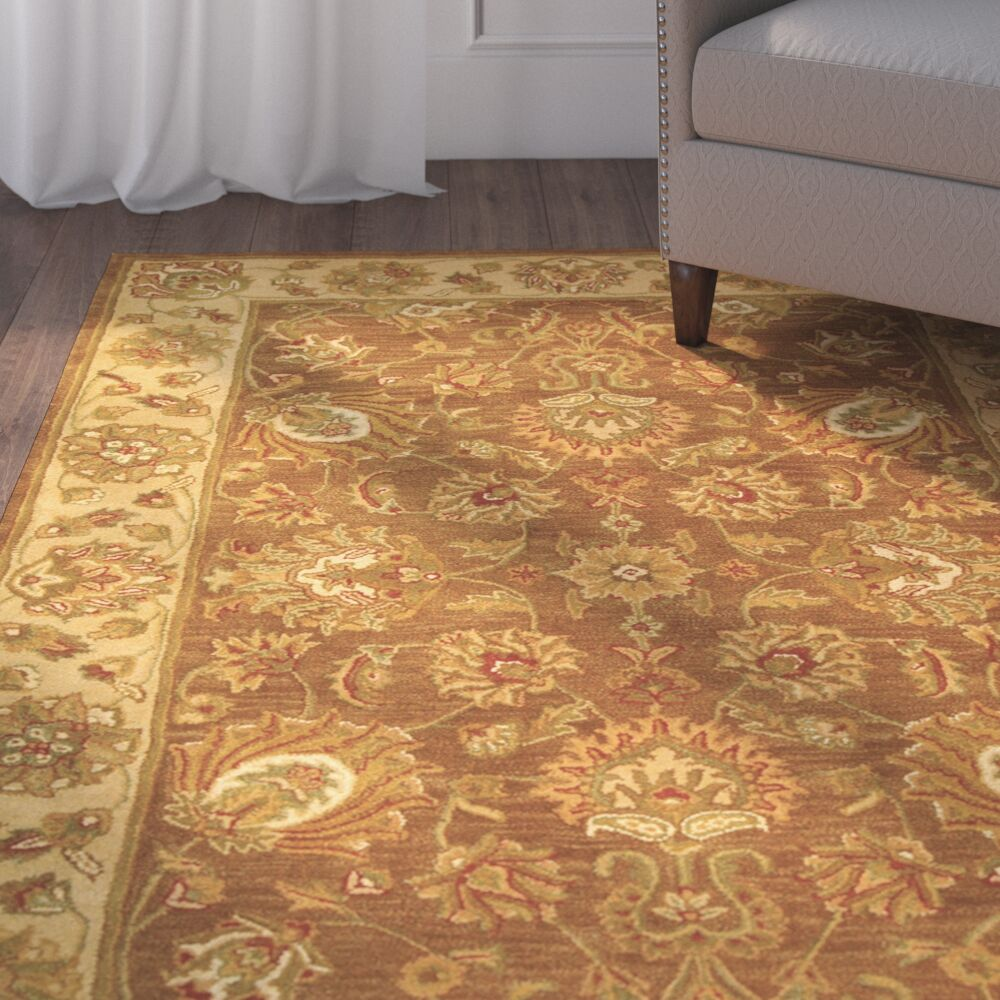 Cranmore Brown/Ivory Area Rug Color: Brown / Ivory, Rug Size: Rectangle 4' x 6'