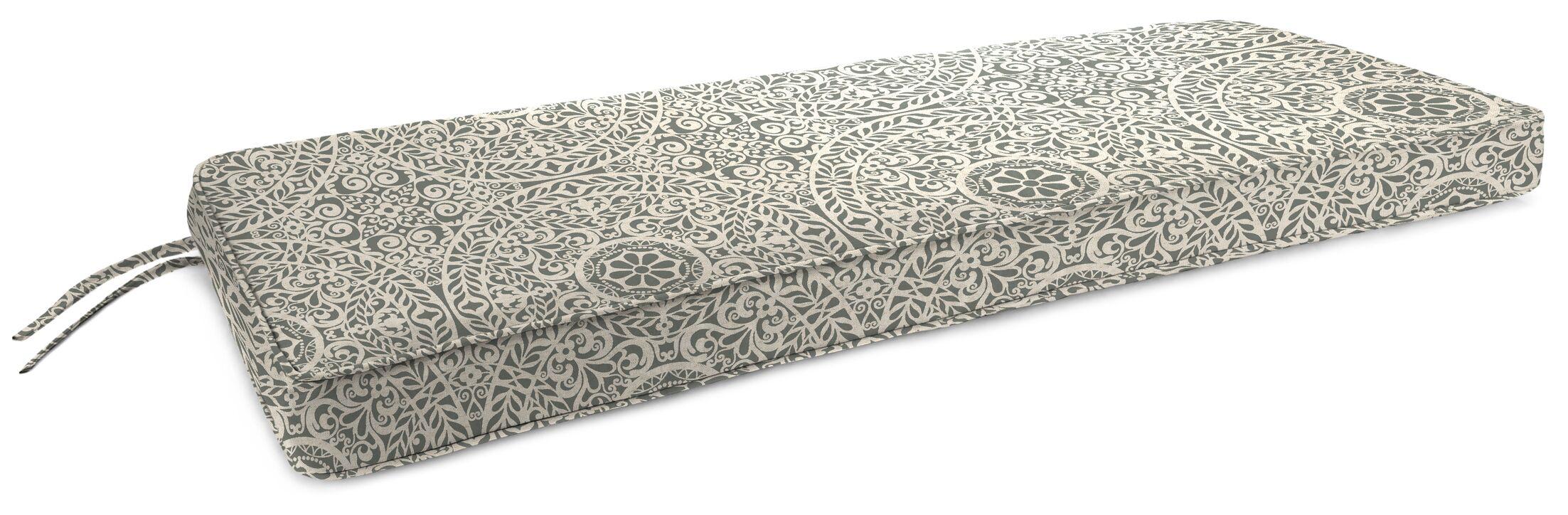 Indoor Bench Cushion Fabric: Tachenda Greystone
