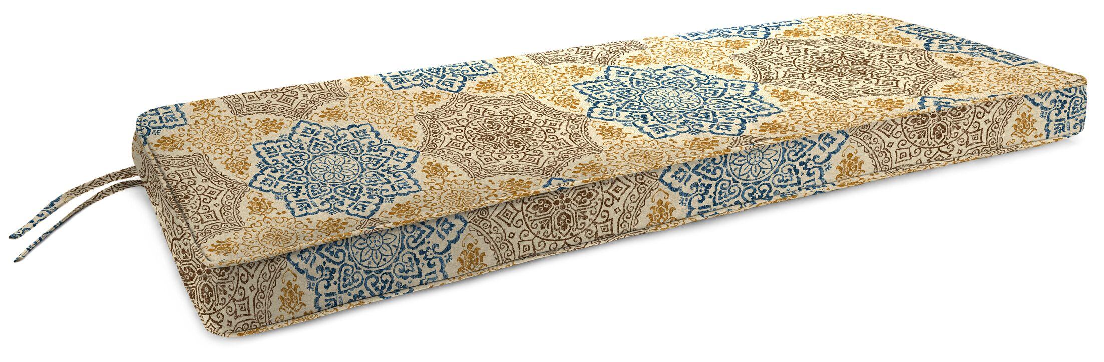 Indoor Bench Cushion Fabric: Foley Topaz