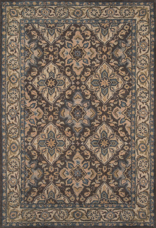 Salazar Hand-Tufted Gray/Beige Area Rug Rug Size: Rectangle 8' x 11'