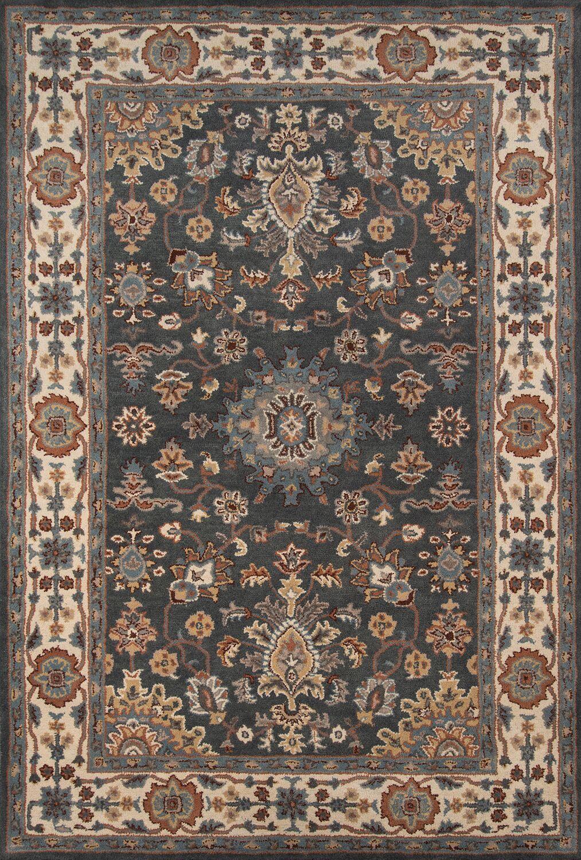 Salazar Hand-Tufted Gray/Brown Area Rug Rug Size: Rectangle 8' x 11'