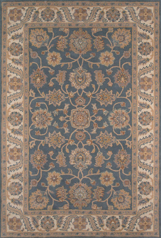 Salazar Hand-Tufted Blue/Beige Area Rug Rug Size: Rectangle 7'6