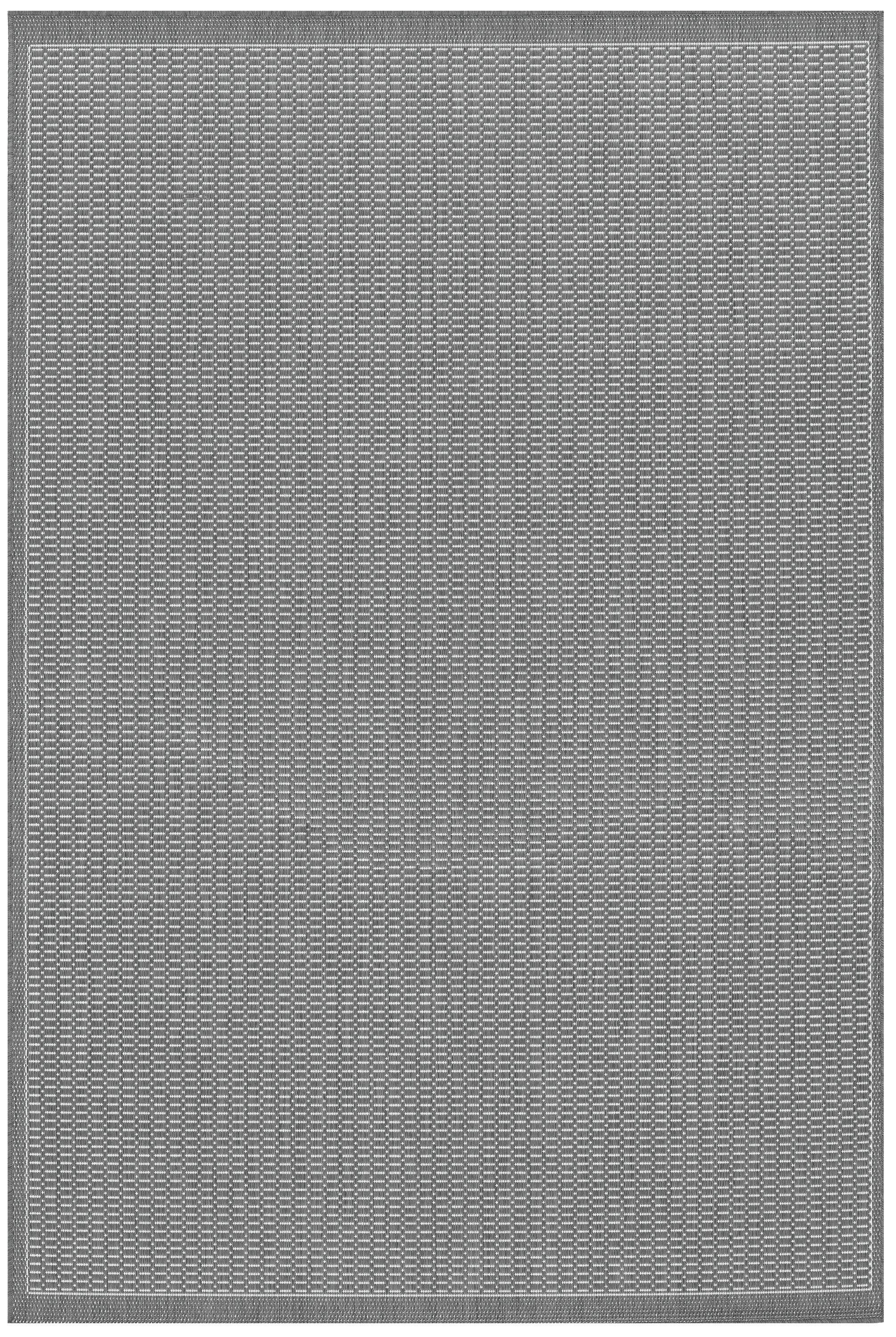 Ariadne Saddle Stitch Gray Indoor/Outdoor Area Rug Rug Size: Rectangle 8'6