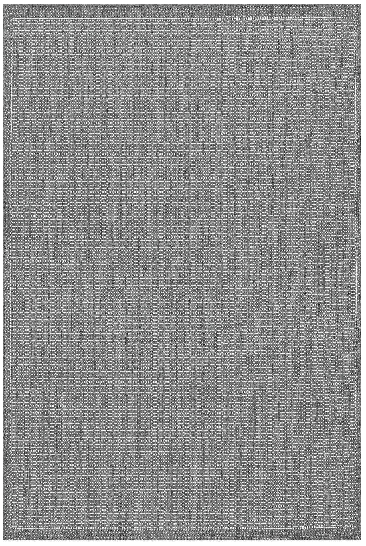 Ariadne Saddle Stitch Gray Indoor/Outdoor Area Rug Rug Size: Rectangle 7'6