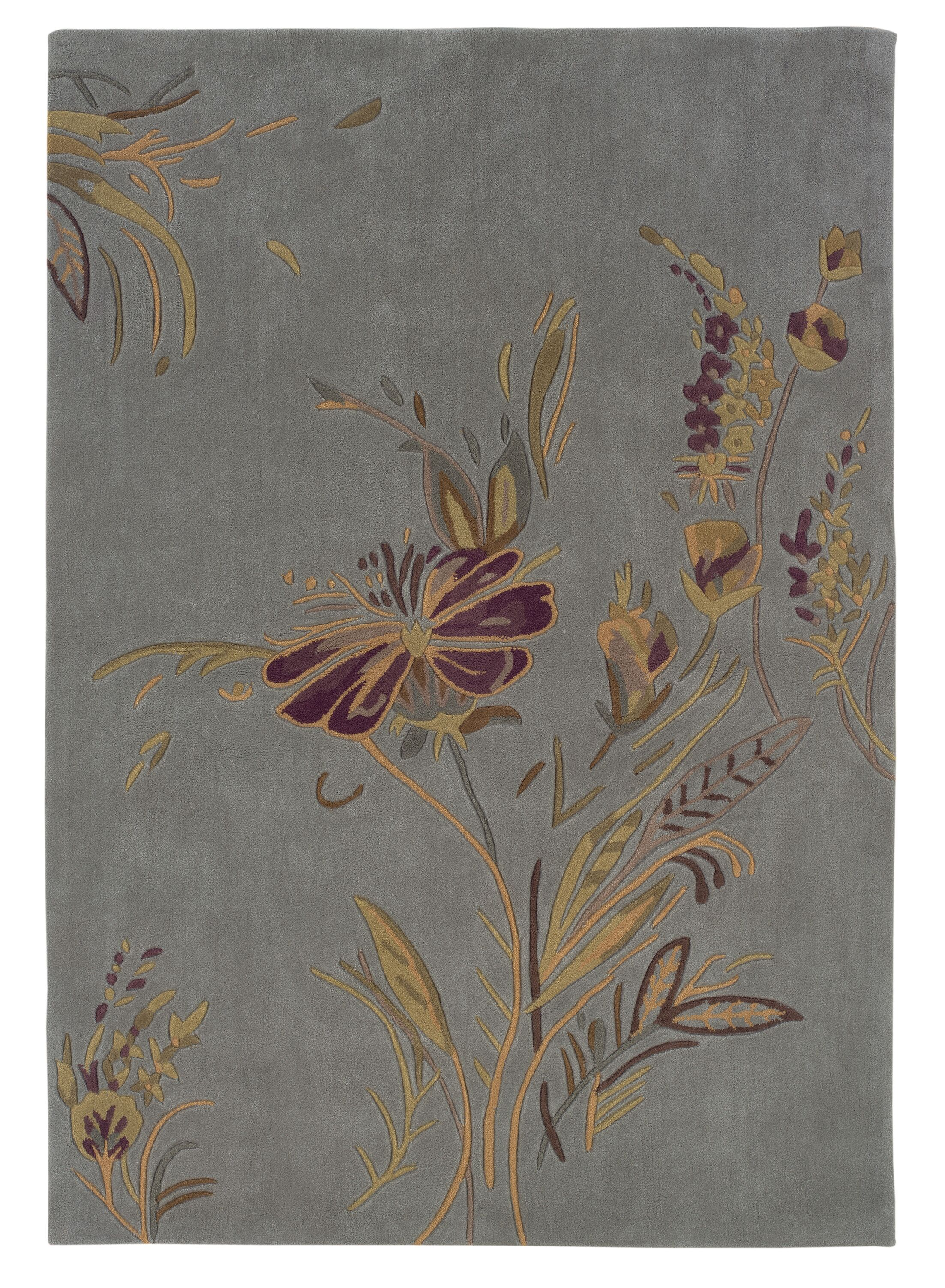 Columban Hand-Tufted Blue/Gold Area Rug Rug Size: Rectangle 8' x 10'