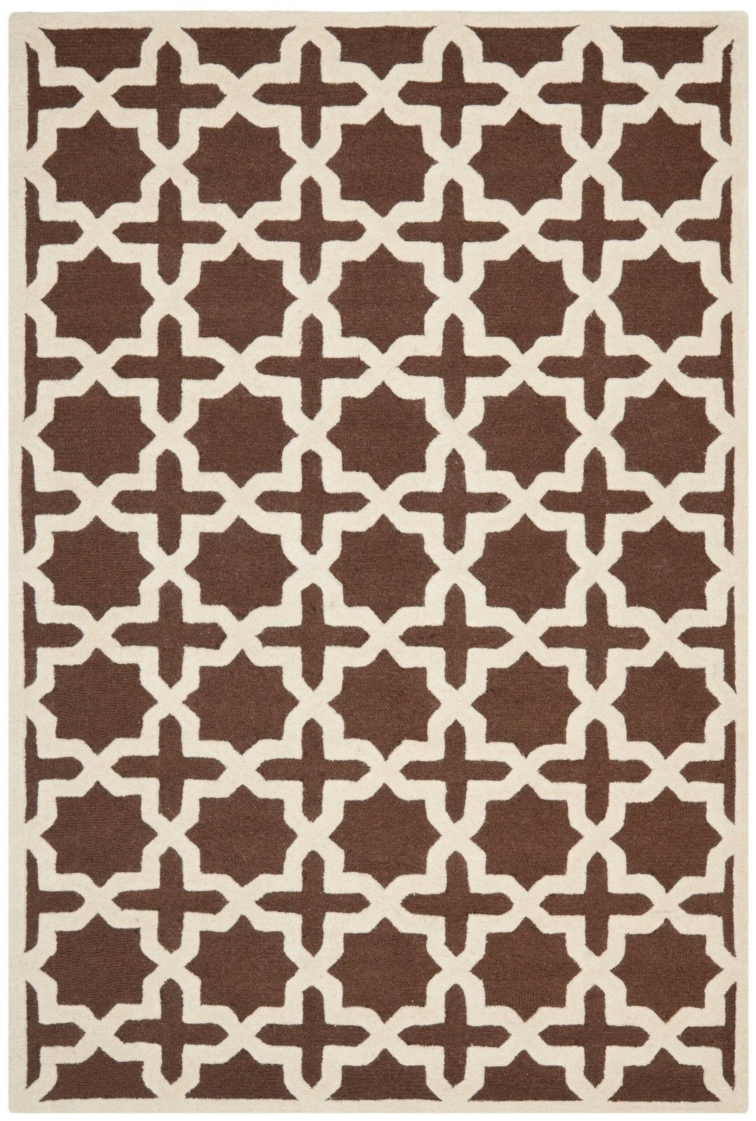 Brunswick Wool Brown/Ivory Area Rug Rug Size: Rectangle 6' x 9'