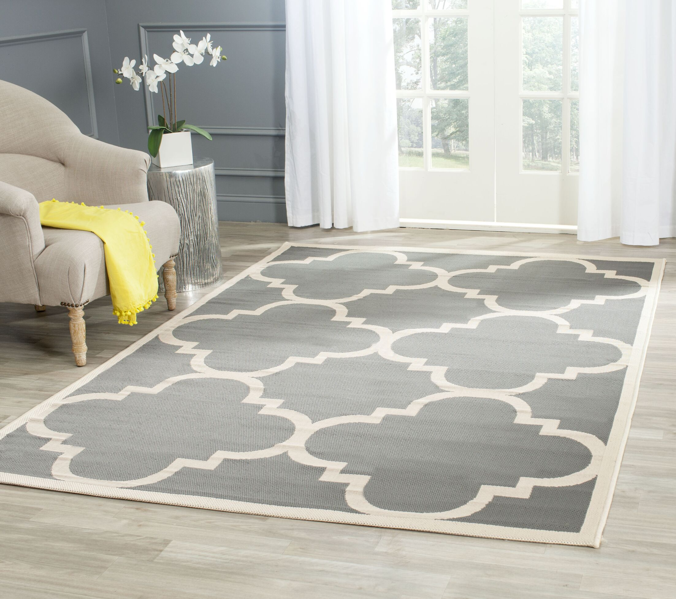 Octavius Gray/Beige Indoor/Outdoor Area Rug Rug Size: Rectangle 8' x 11'2