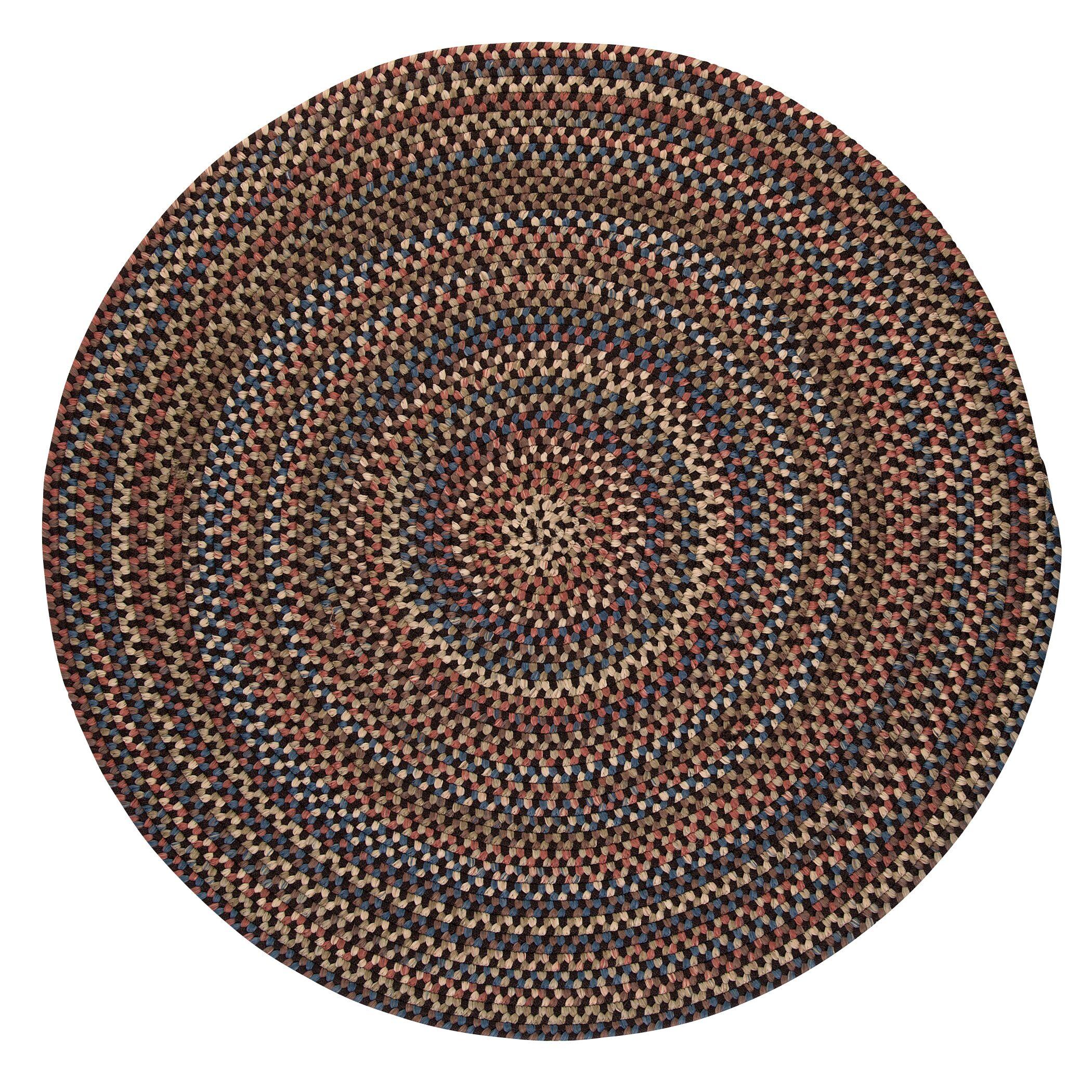 Kipton Dark Brown Area Rug Rug Size: Round 10'