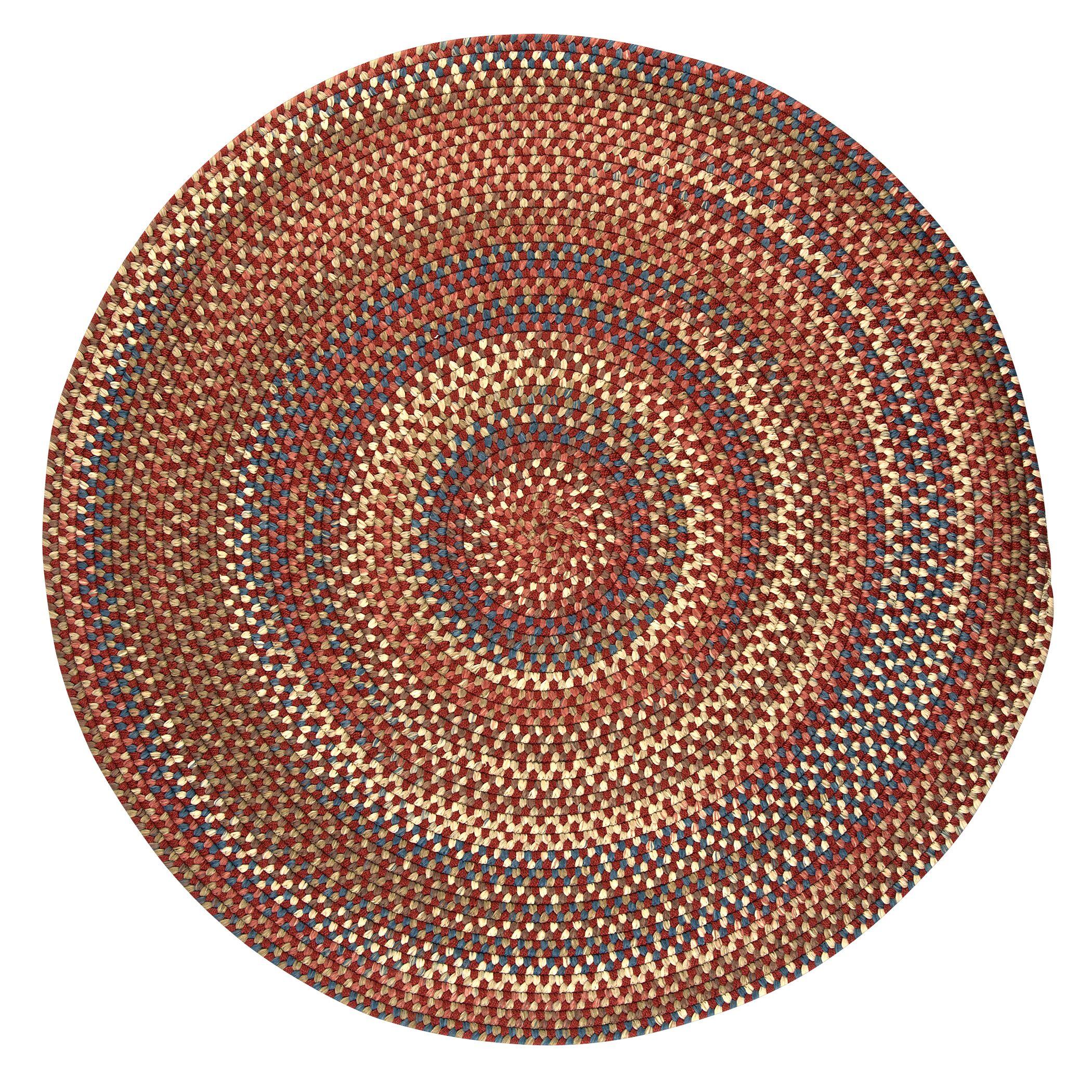 Kipton Rust Area Rug Rug Size: Round 12'