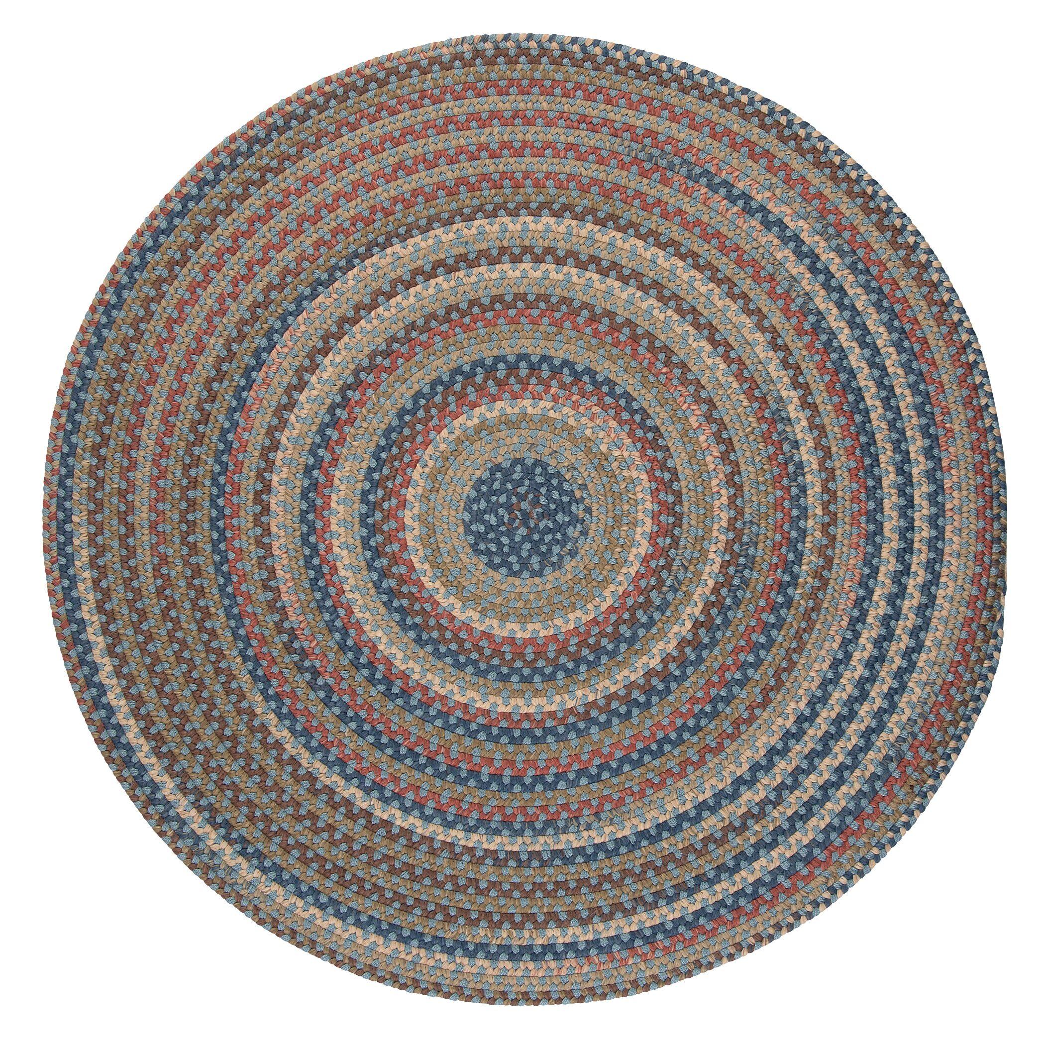 Kipton Light Blue Area Rug Rug Size: Round 6'