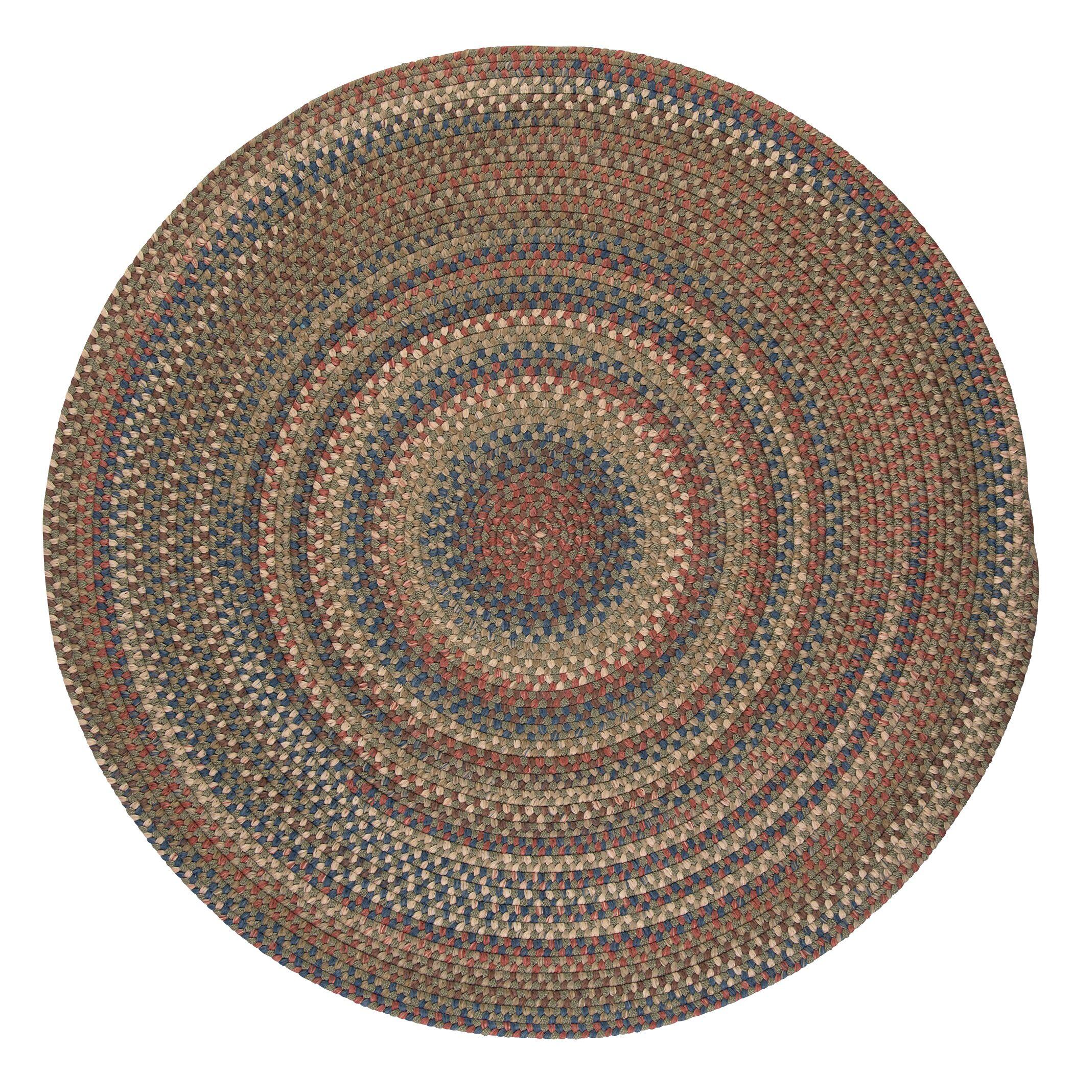 Kipton Olive Area Rug Rug Size: Round 8'