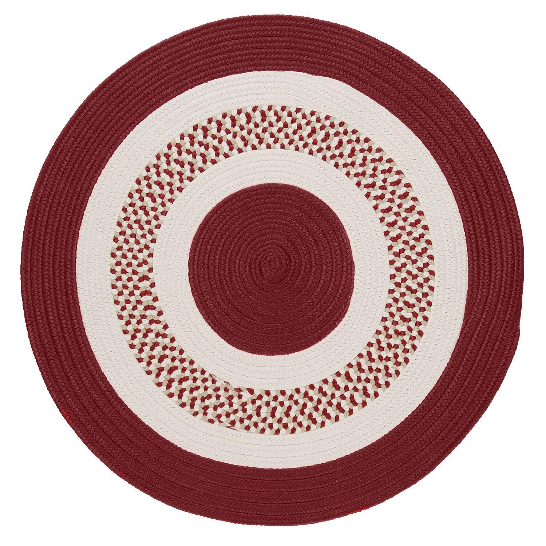 Germain Red & Beige Indoor/Outdoor Area Rug Rug Size: Round 10'