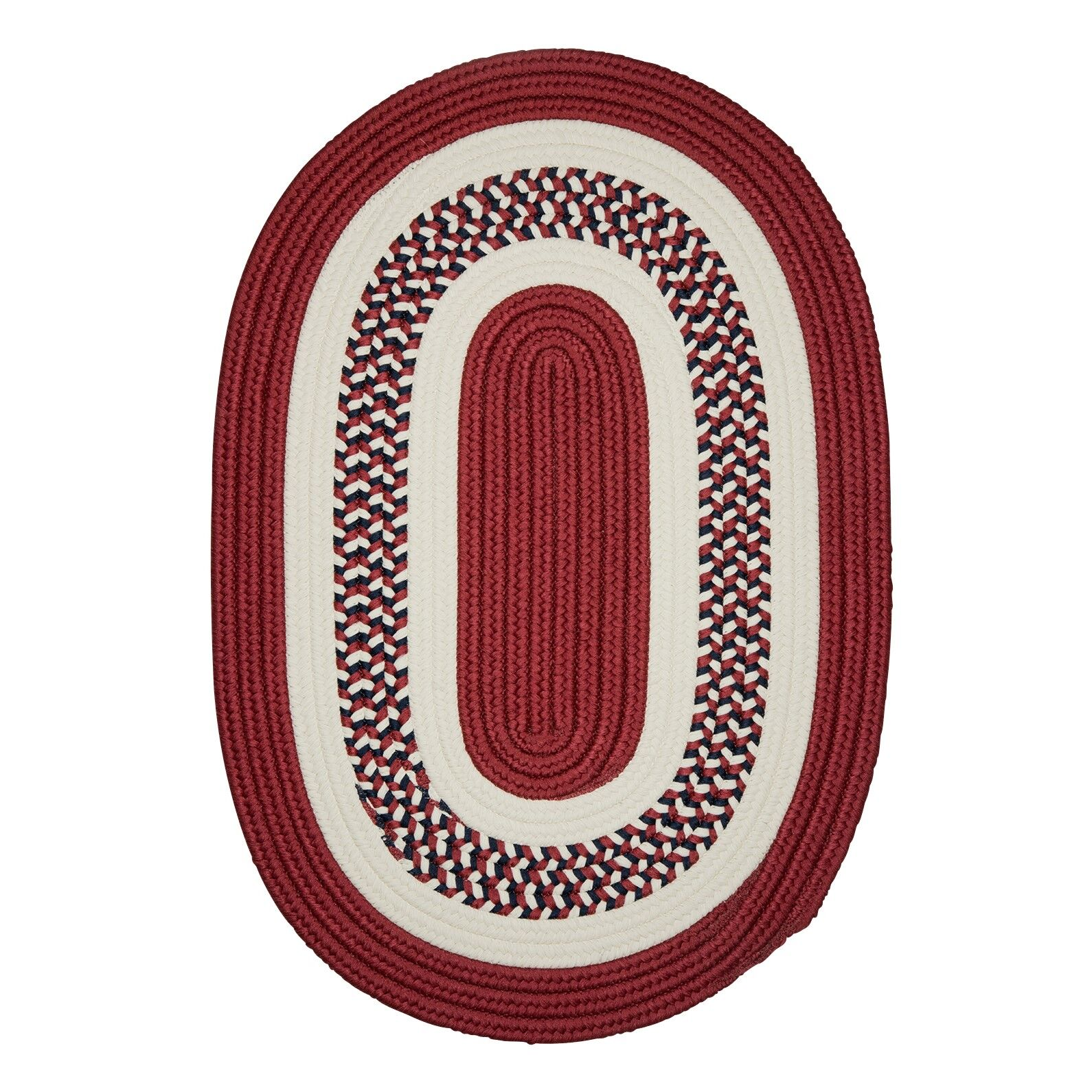 Germain Red Area Rug Rug Size: Round 12'