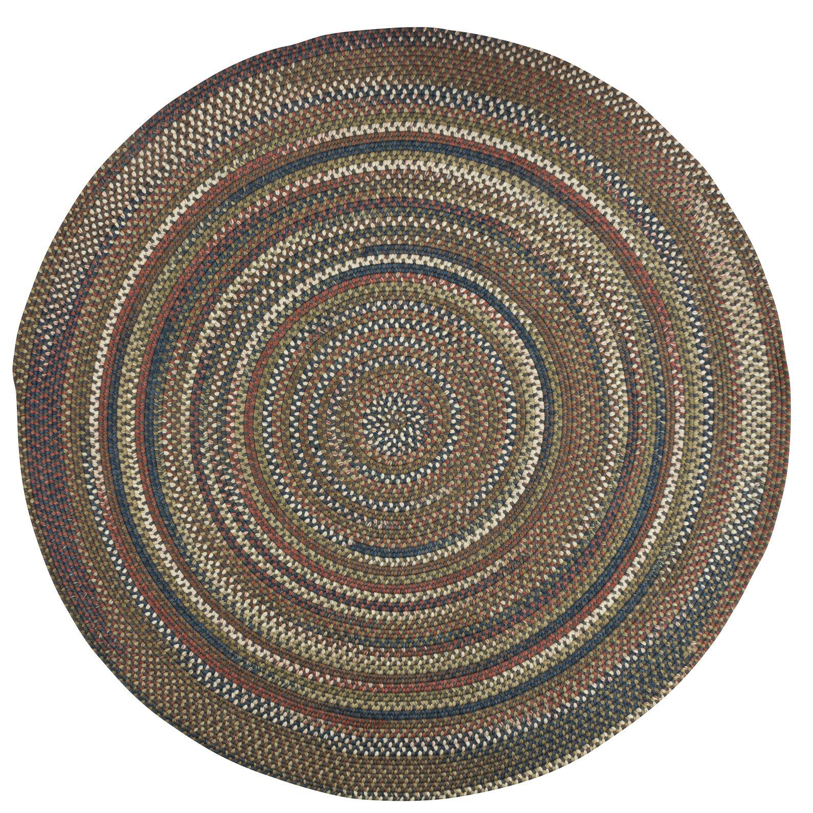 Kipton Gray Area Rug Rug Size: Round 12'