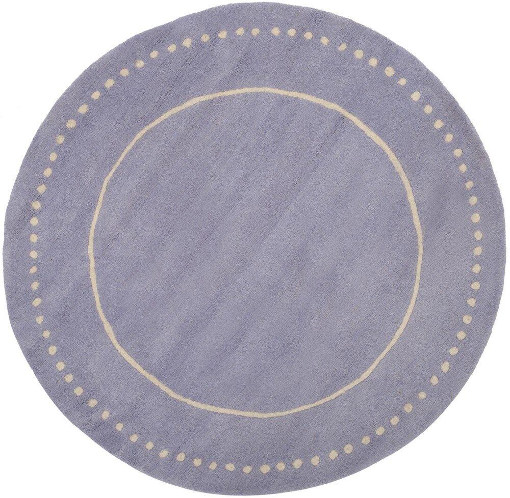 Amundson Hand-Tufted Gray Area Rug Rug Size: Round 5'
