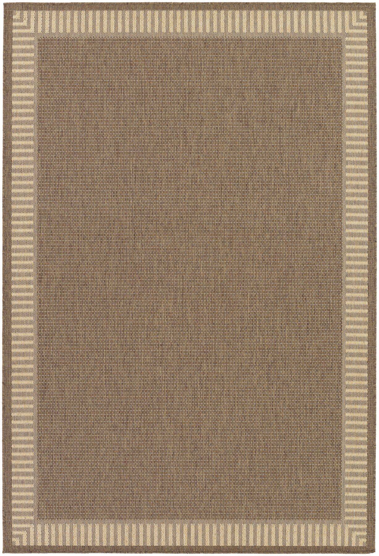 Westlund Wicker Stitch Cocoa/Natural Indoor/Outdoor Area Rug Rug Size: Square 7'6