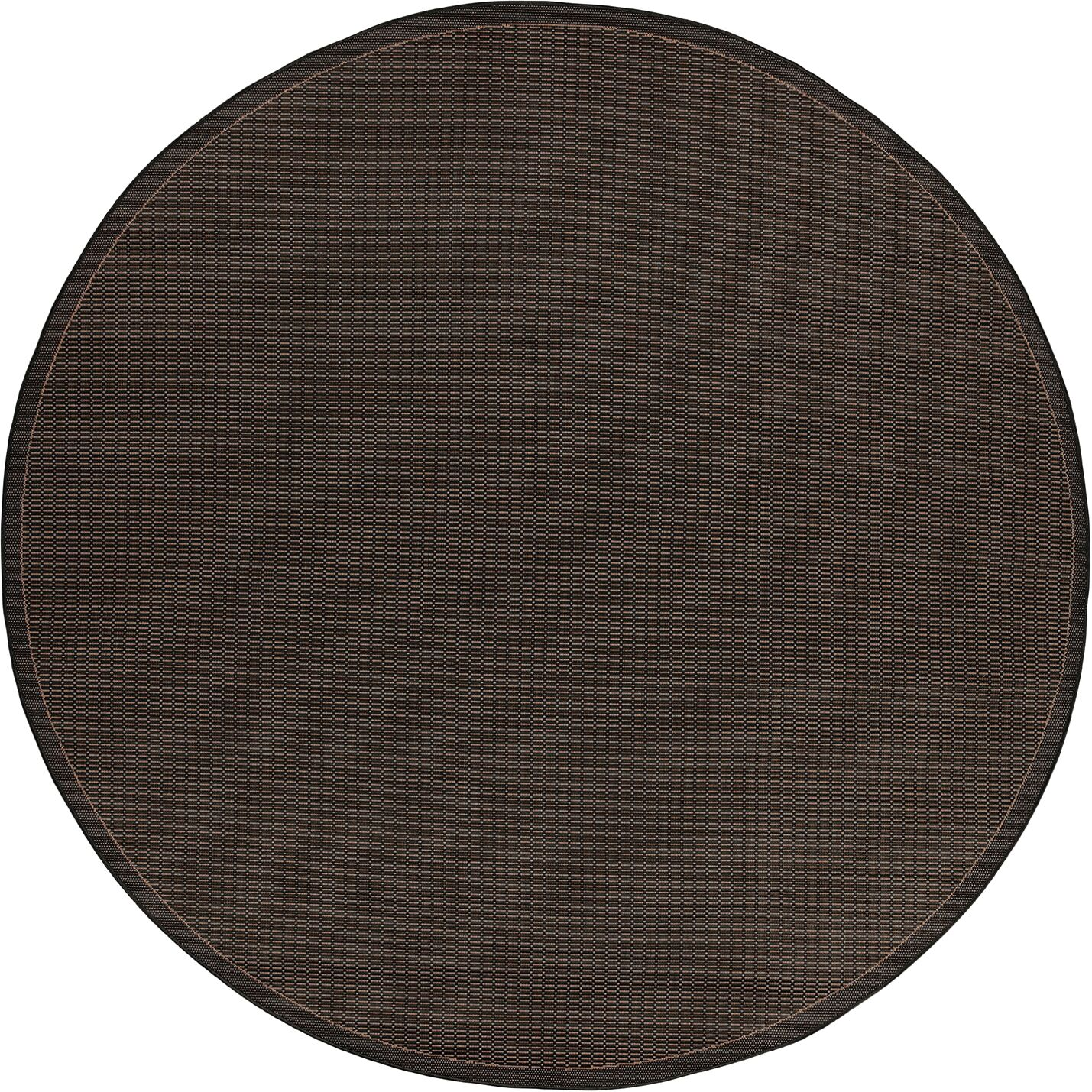 Ariadne Saddle Stitch Hand-Woven Black Cocoa Indoor/Outdoor Area Rug Rug Size: Rectangle 8'6