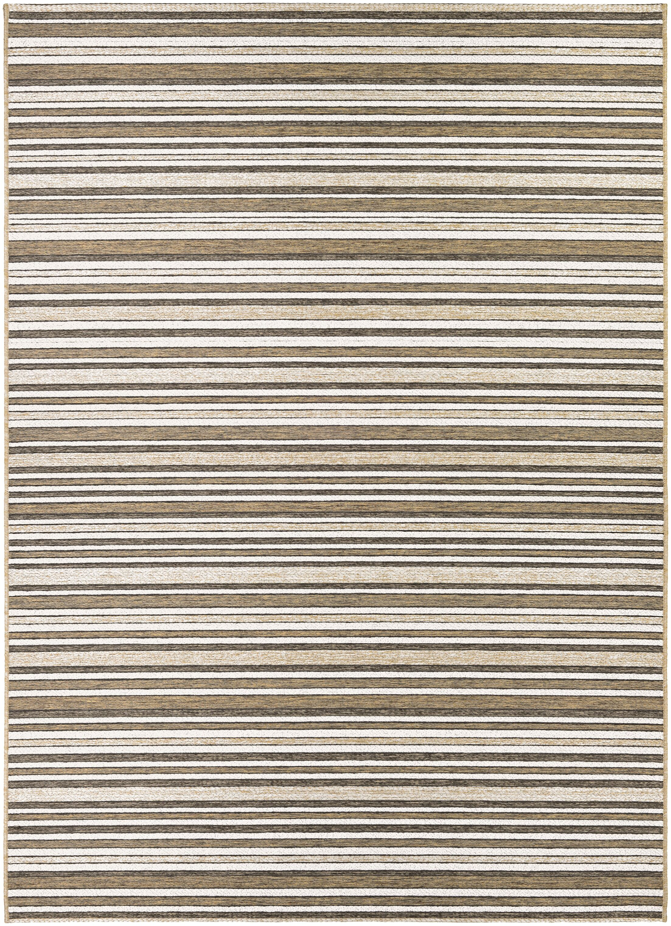 Holdren Light Brown/Ivory Area Rug Rug Size: Rectangle 7'10
