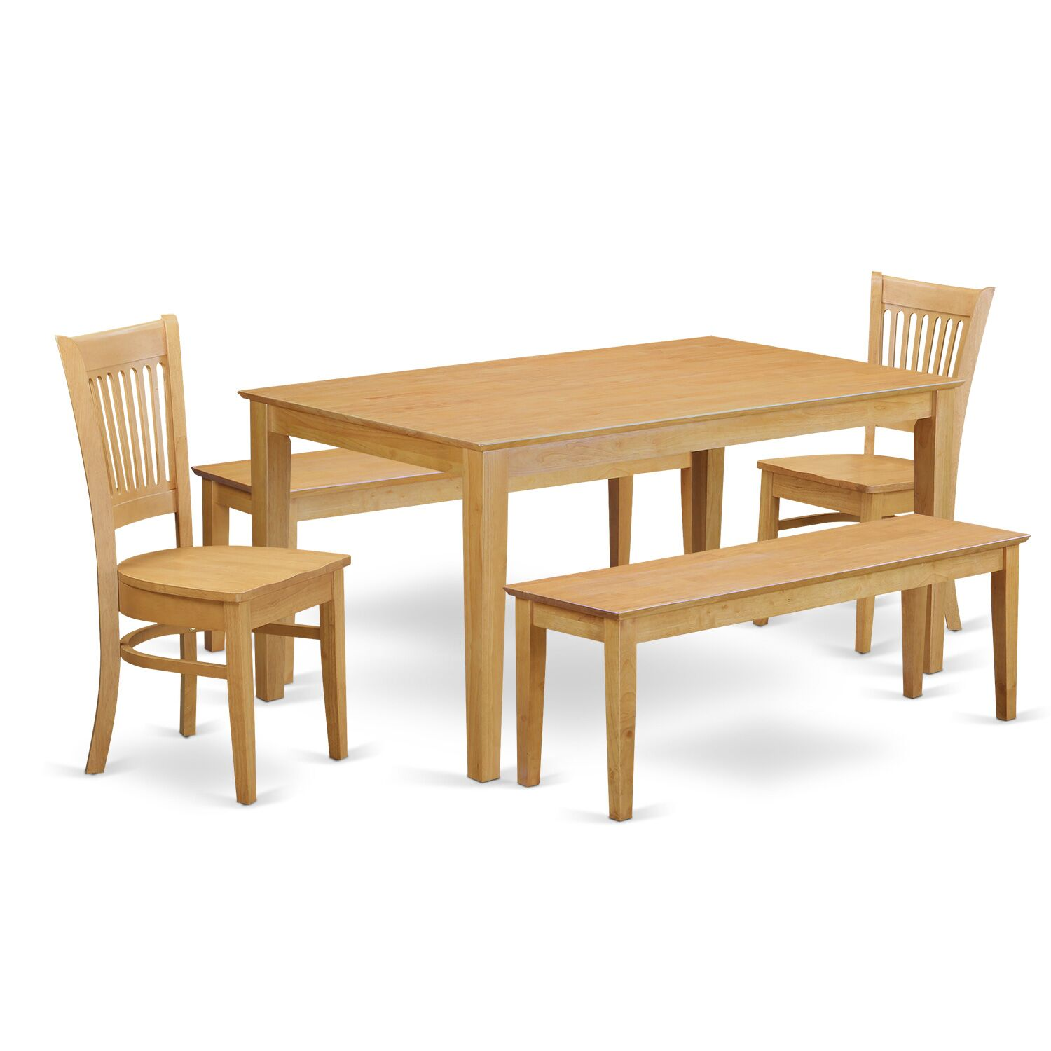 Smyrna 5 Piece Dining Set Fabric: Wood