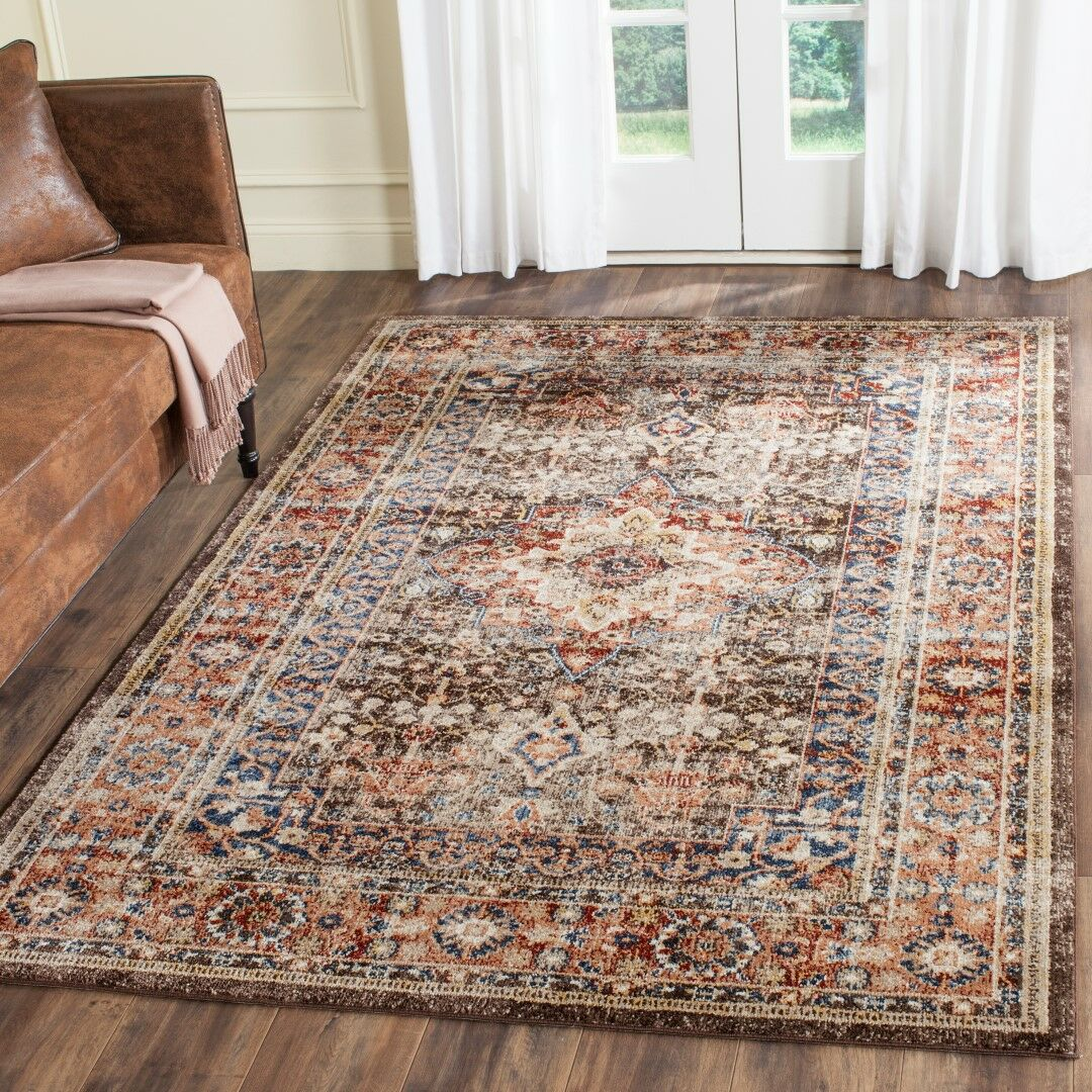 Broomhedge Brown/Rust Area Rug Rug Size: Rectangle 6'7