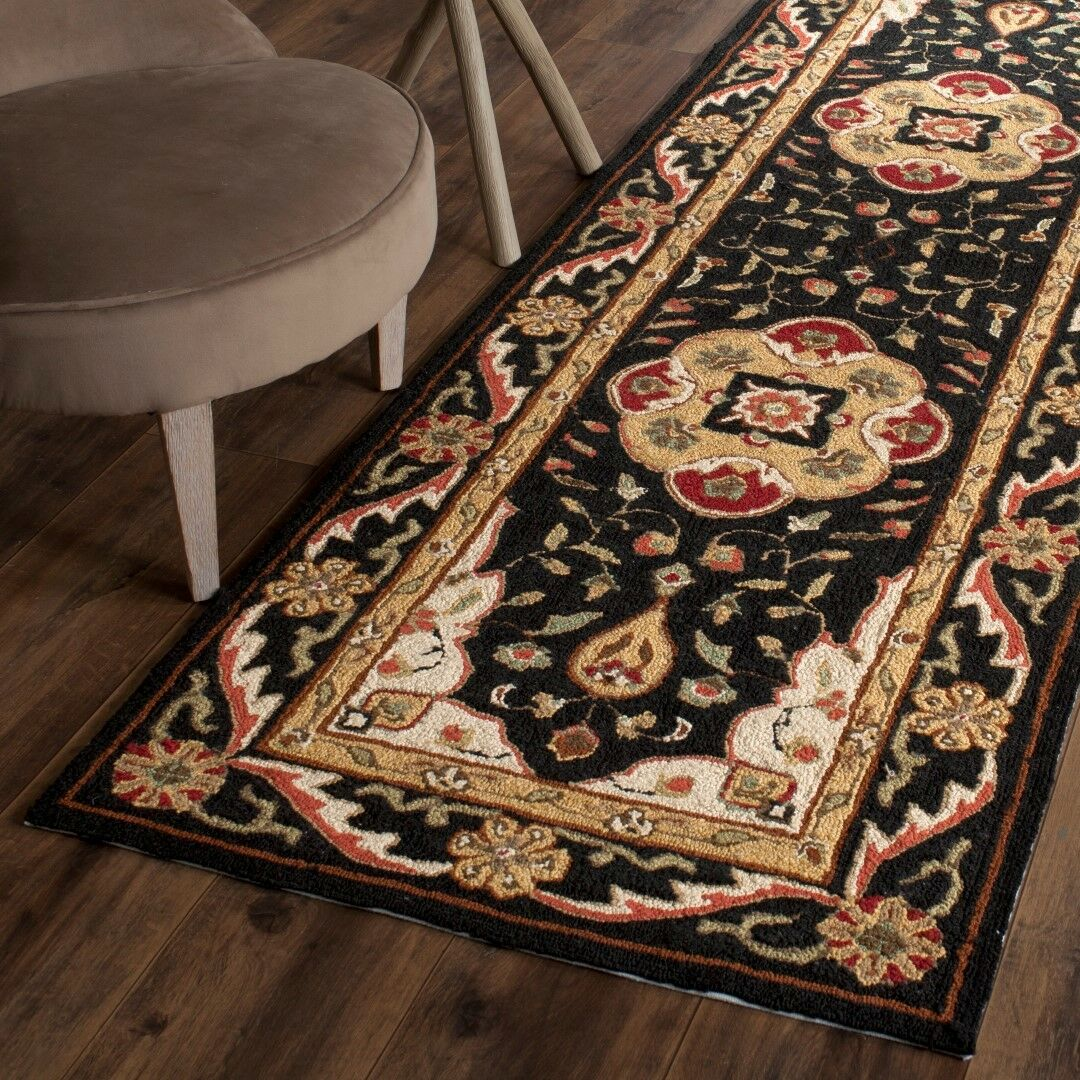 Bryonhall Hand Hooked Area Rug Rug Size: Runner 2'6