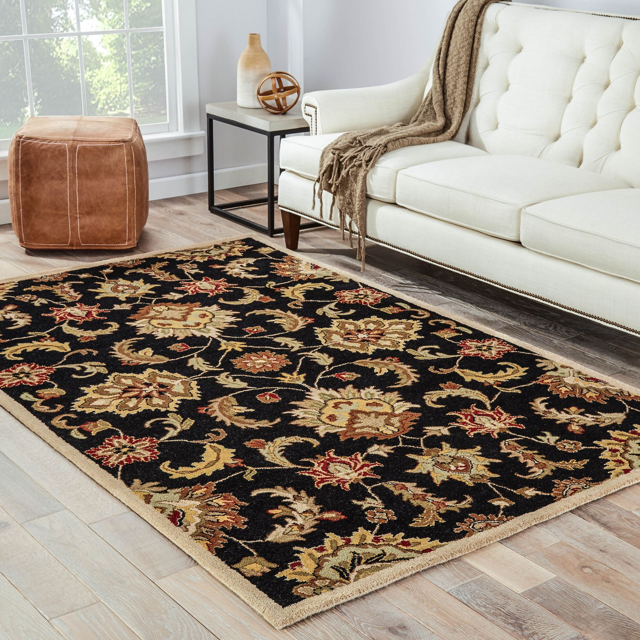 Thornhill Black/Tan Area Rug Rug Size: Rectangle 5' x 8'