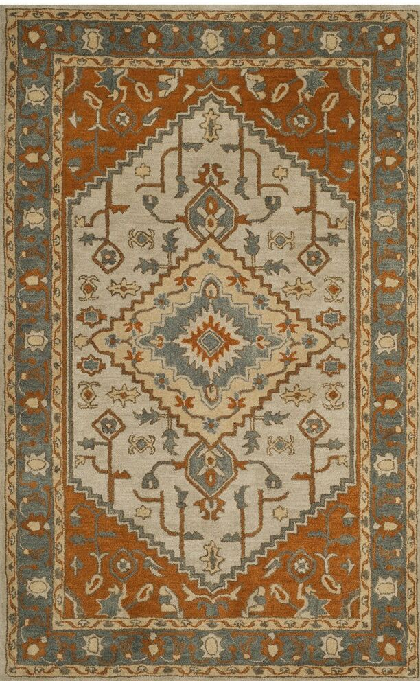 Cranmore Hand-Tufted Gray/Beige Area Rug Rug Size: Rectangle 6' x 9'
