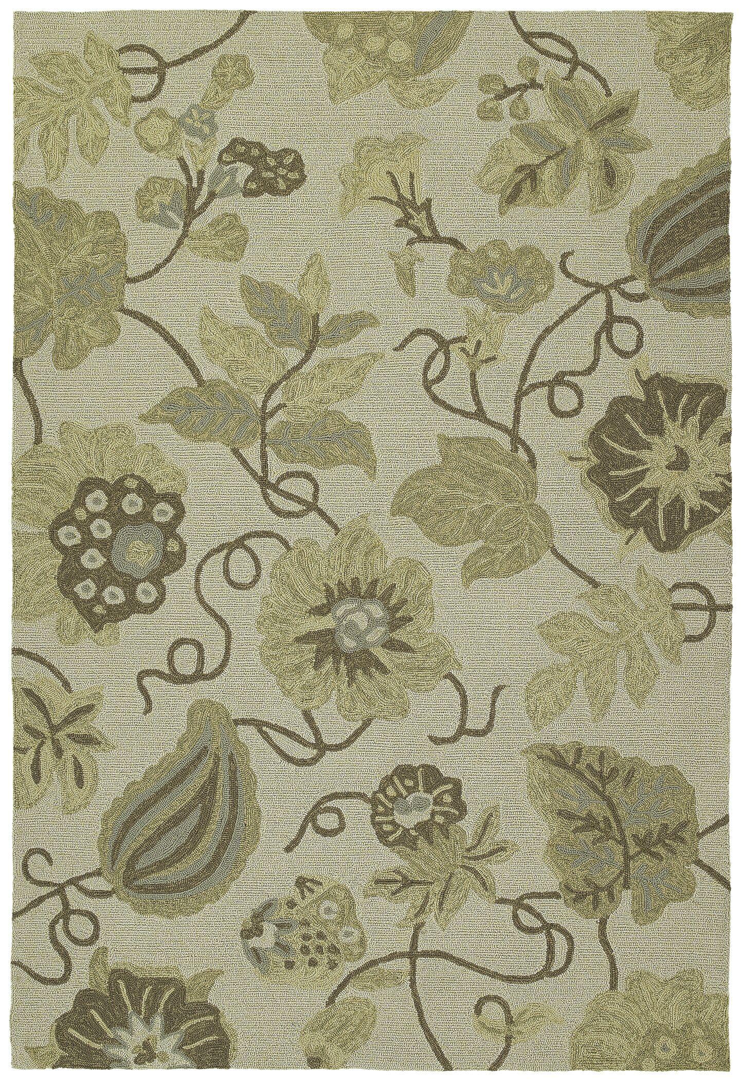 Glenn Garden Harbour Linen Floral Indoor/Outdoor Area Rug Rug Size: Square 5'9