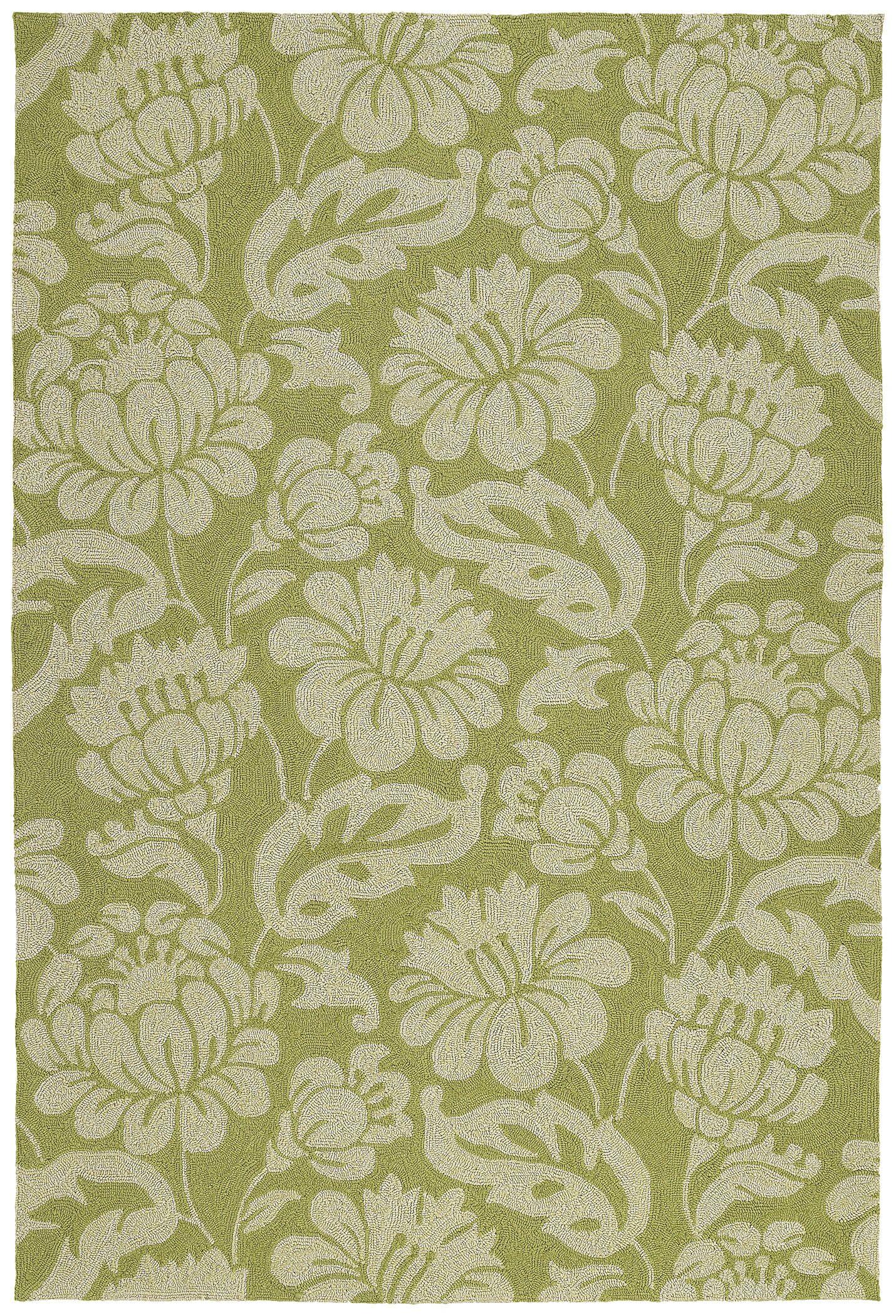 Glenn Wasabi Floral Indoor/Outdoor Area Rug Rug Size: Rectangle 8' x 10'