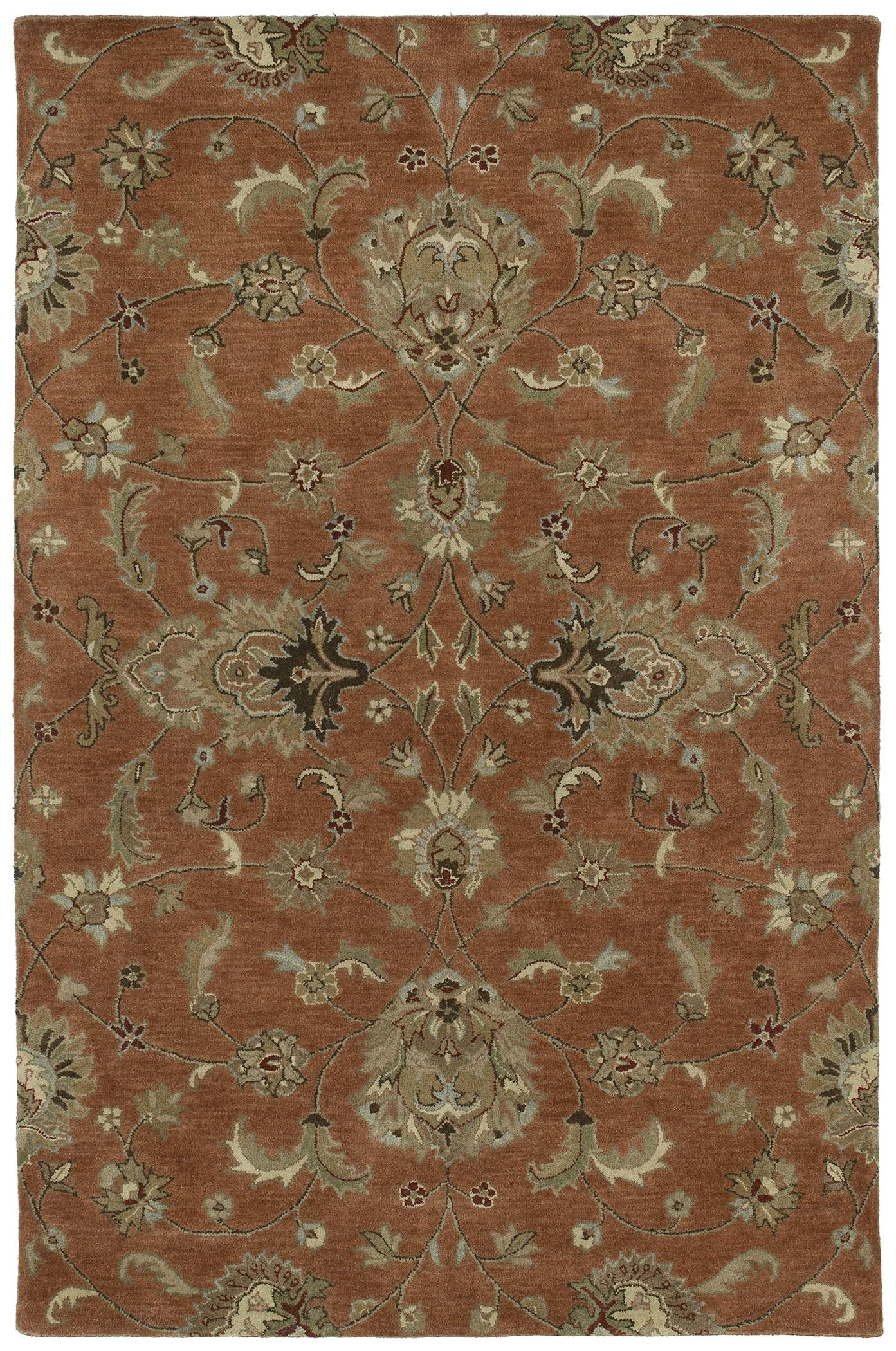 Cortland Copper Europa Area Rug Rug Size: Rectangle 5' x 7'9