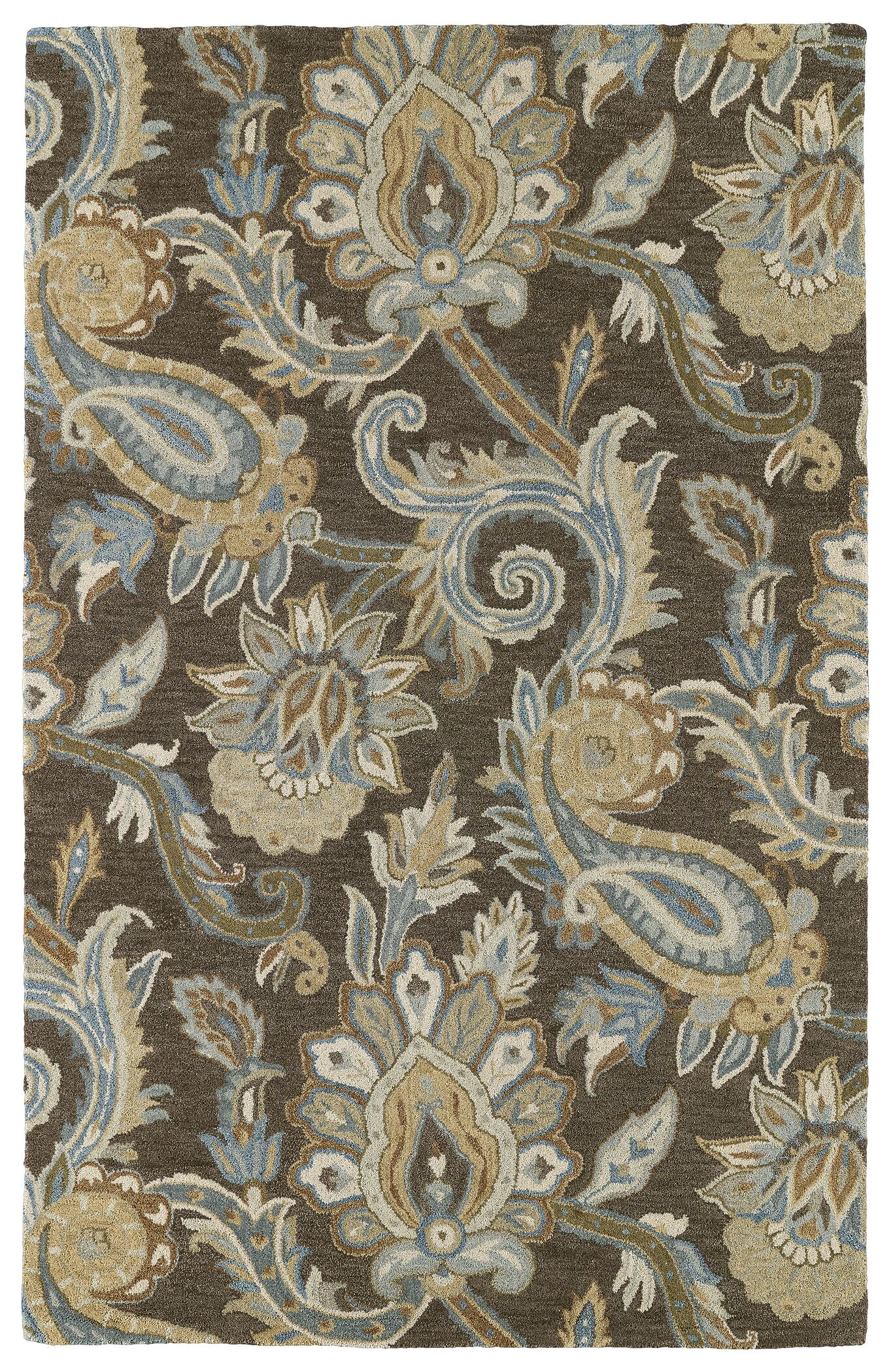 Casper Brown Odyusseus Brown/Tan Floral Area Rug Rug Size: Rectangle 9' x 12'
