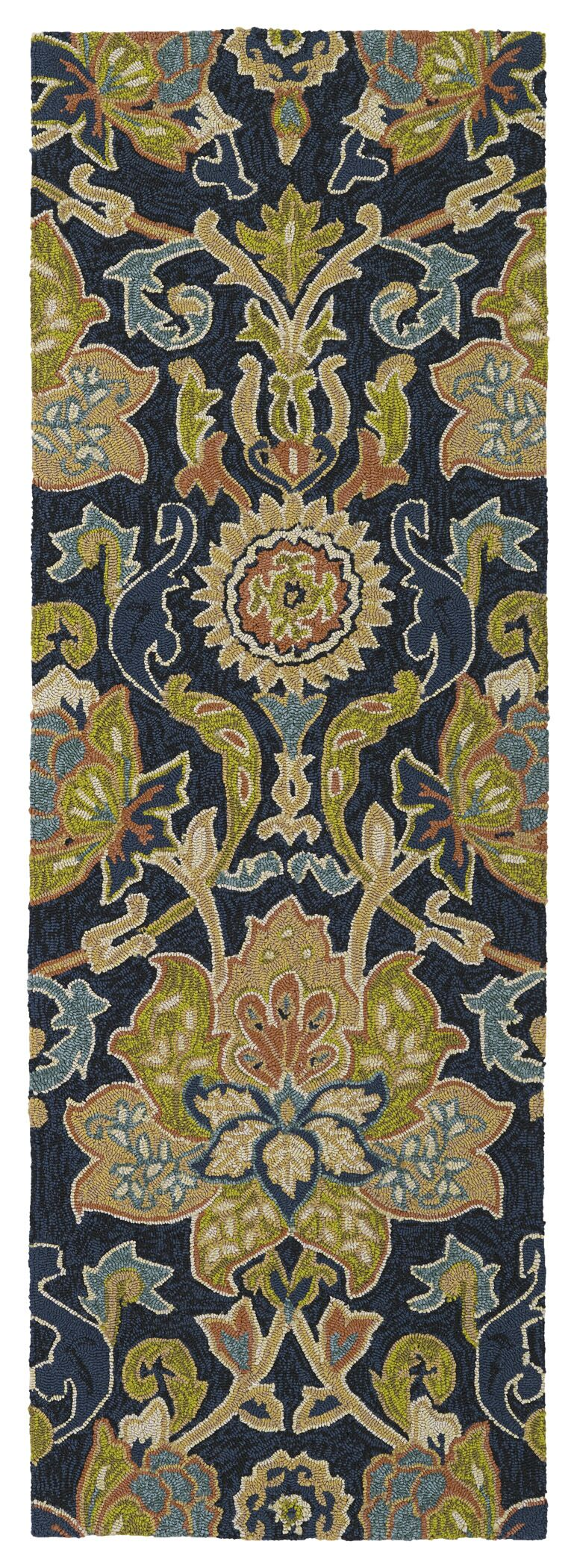 Manning Hand-Tufted Navy Indoor/Outdoor Area Rug Rug Size: Rectangle 3' x 5'