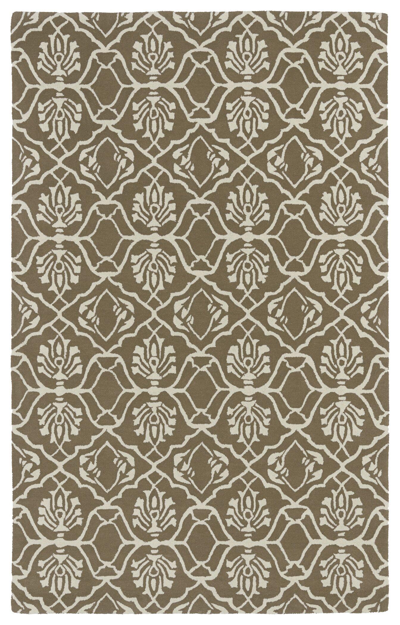 Corine Light Brown Area Rug Rug Size: Rectangle 8' x 11'