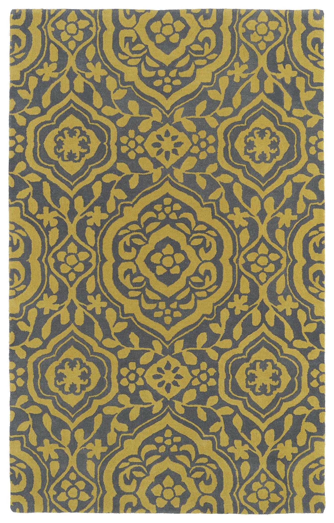 Corine Yellow Area Rug Rug Size: Rectangle 8' x 11'