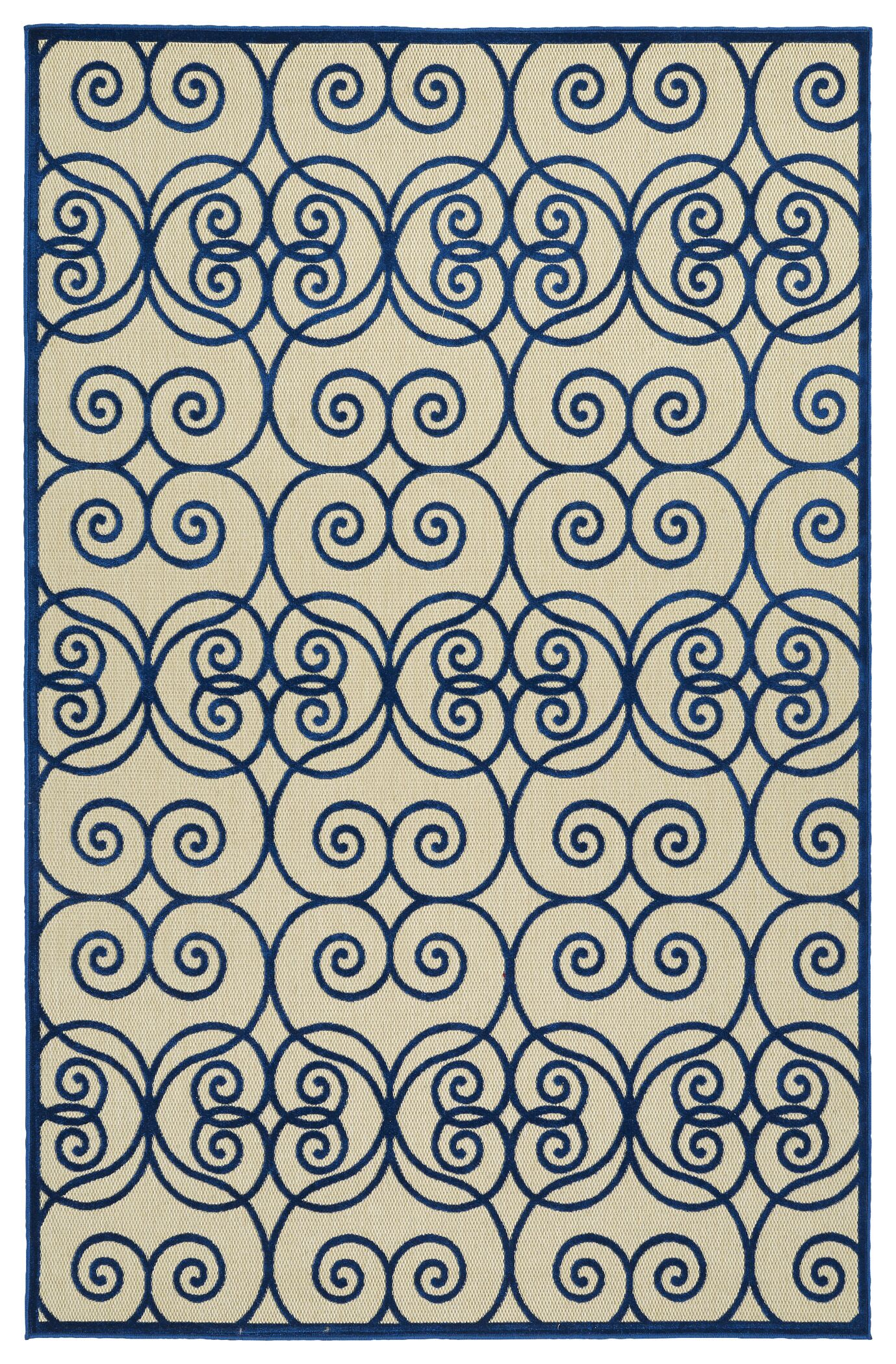 Covedale Hand-Woven Navy Indoor/Outdoor Area Rug Rug Size: Rectangle 8'8