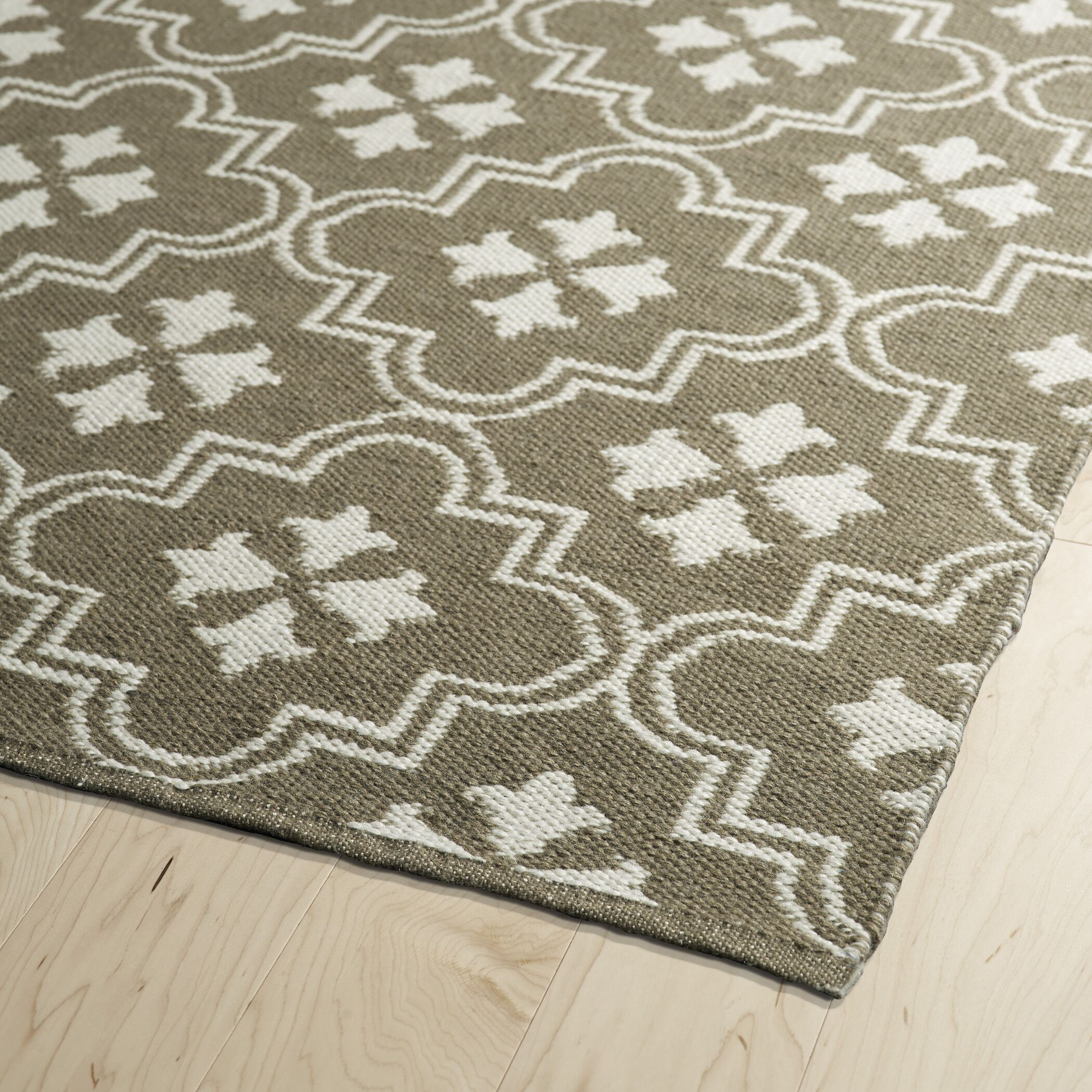 Covington Taupe/Cream Indoor/Outdoor Area Rug Rug Size: Rectangle 8' x 10'