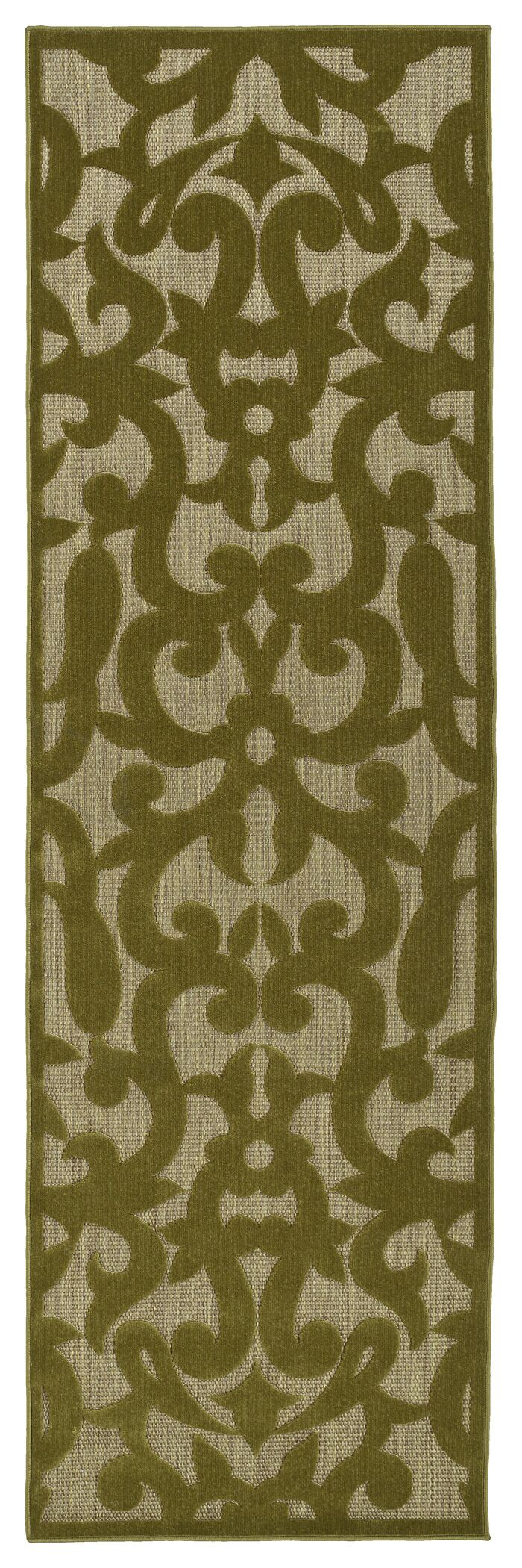 Covedale Machine Woven Olive Indoor/Outdoor Area Rug Rug Size: Rectangle 7'10